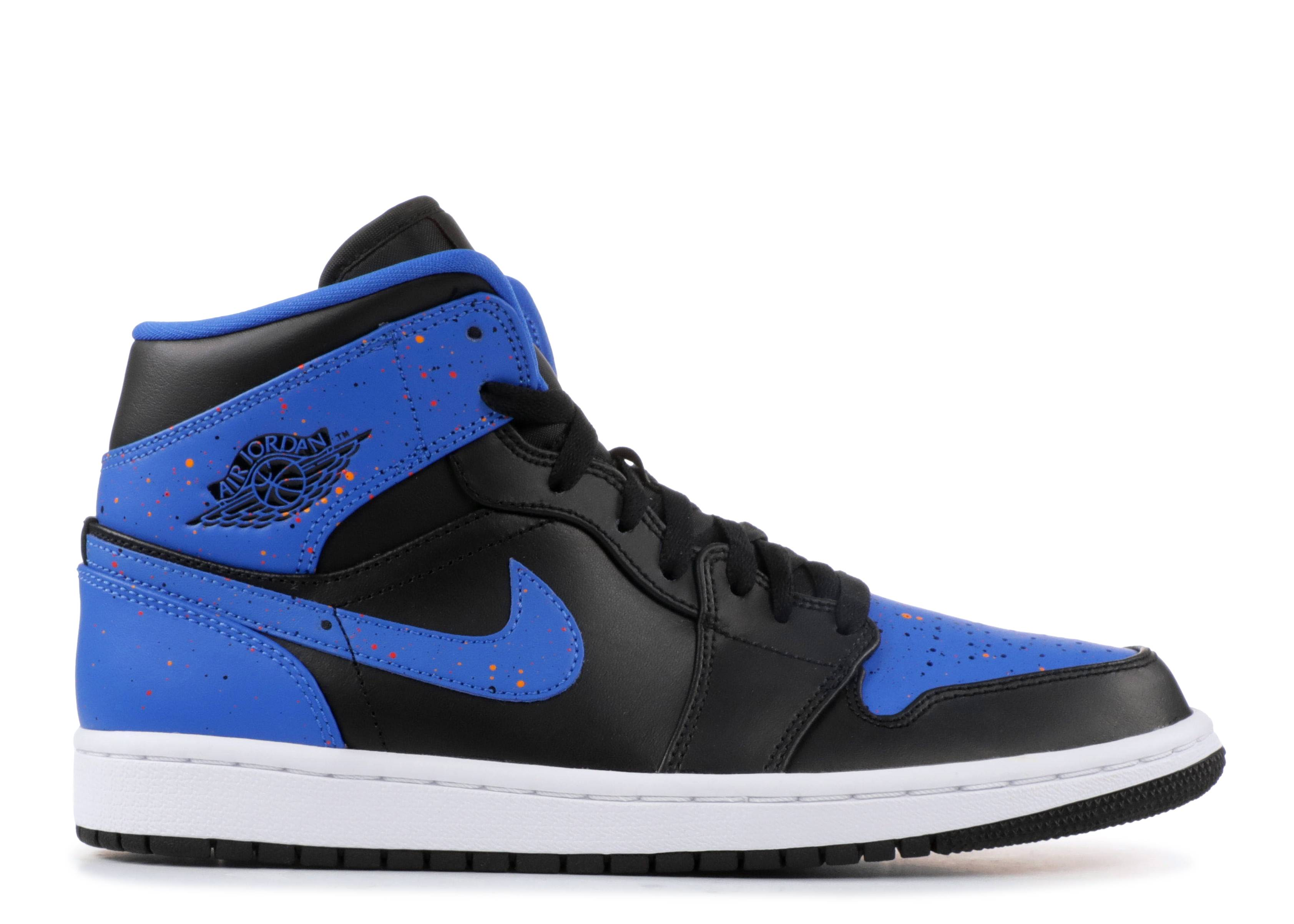"air jordan 1 mid ""royal paint splatter"""