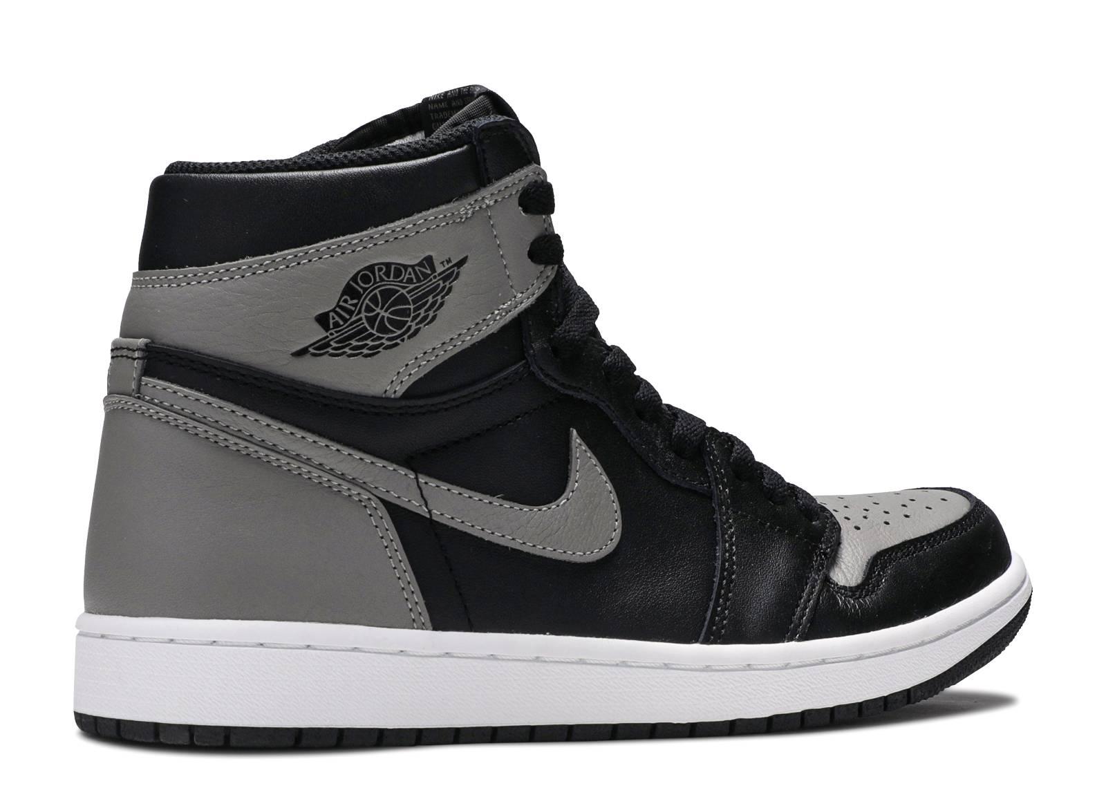 air jordan 1 black and grey