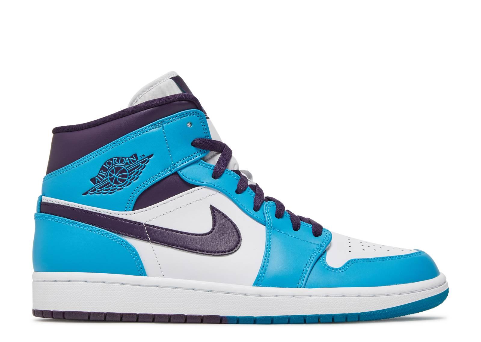 03078576b717 Air Jordan 1 Mid - Air Jordan - 554724 415 - blue lagoon grand purple-white
