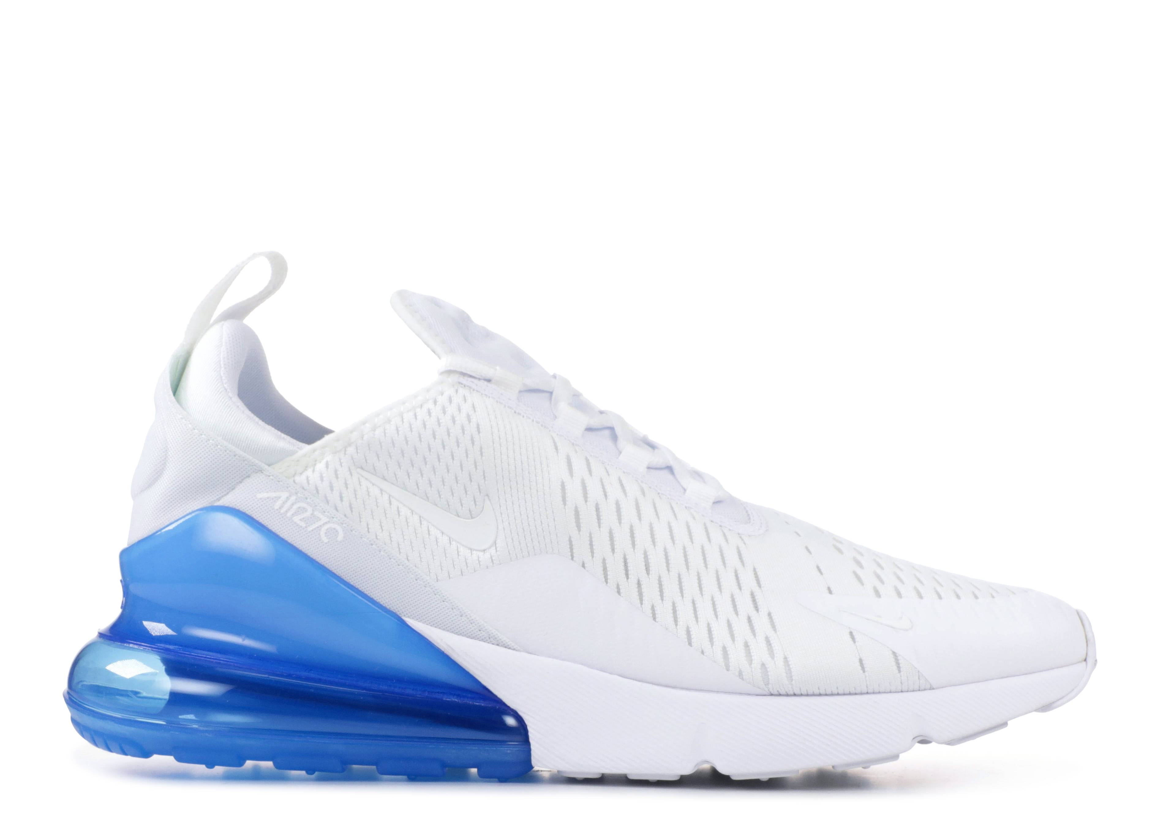 Air Max 270 White Photo Blue Nike Ah8050 105 White White