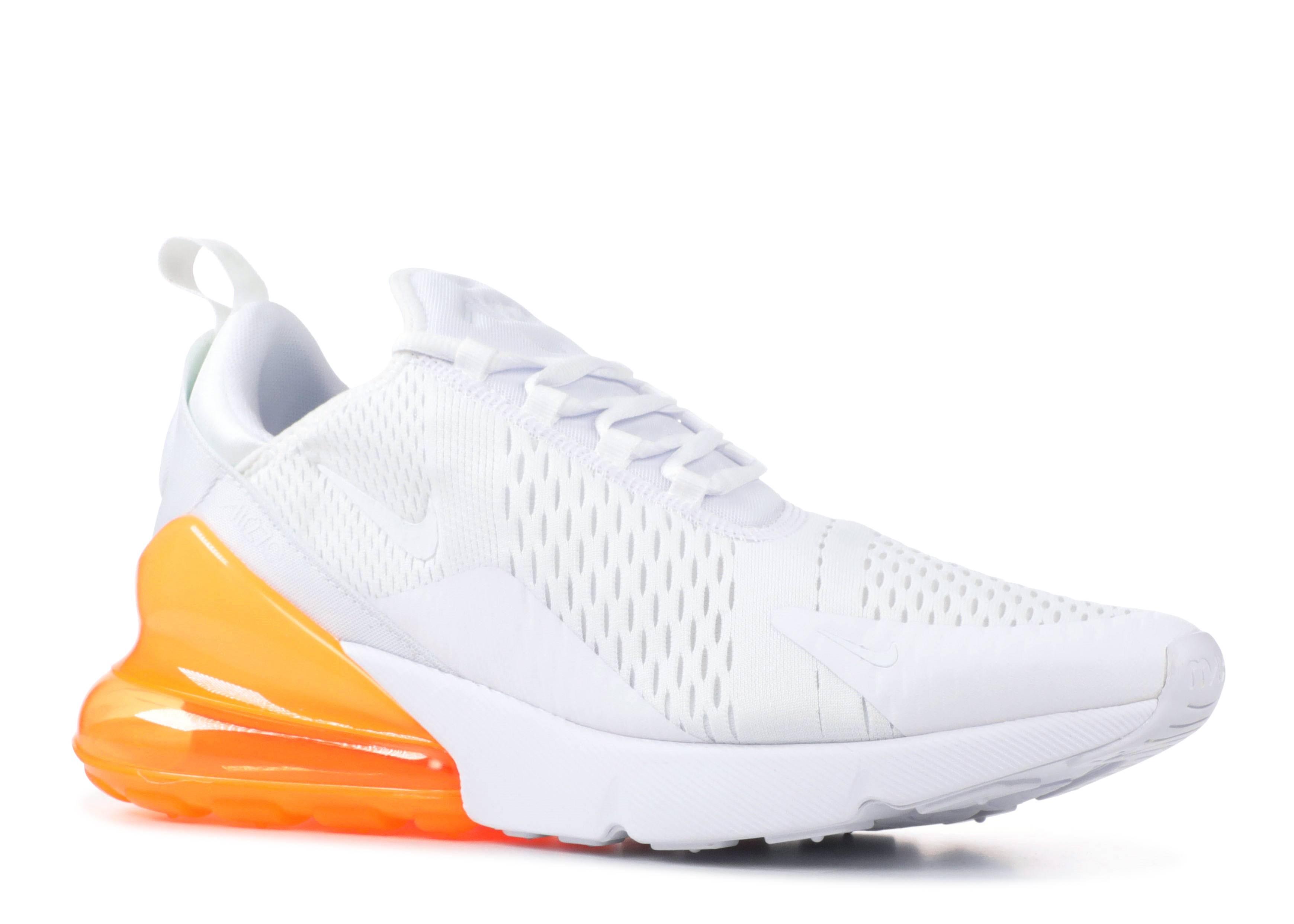 Air Max 270 - Nike - ah8050 102 - white/white-total orange | Flight Club