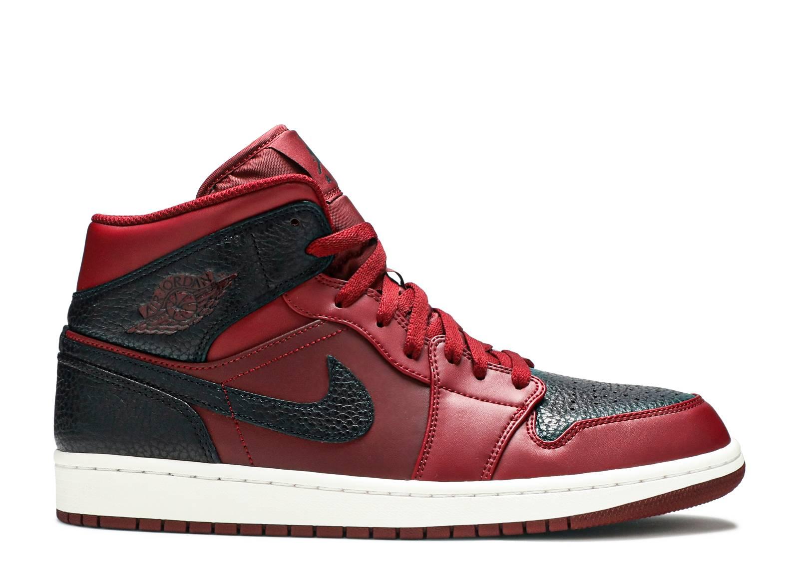 bf6b2e53d5055c Air Jordan 1 Mid - Air Jordan - 554724 601 - team red black summit white