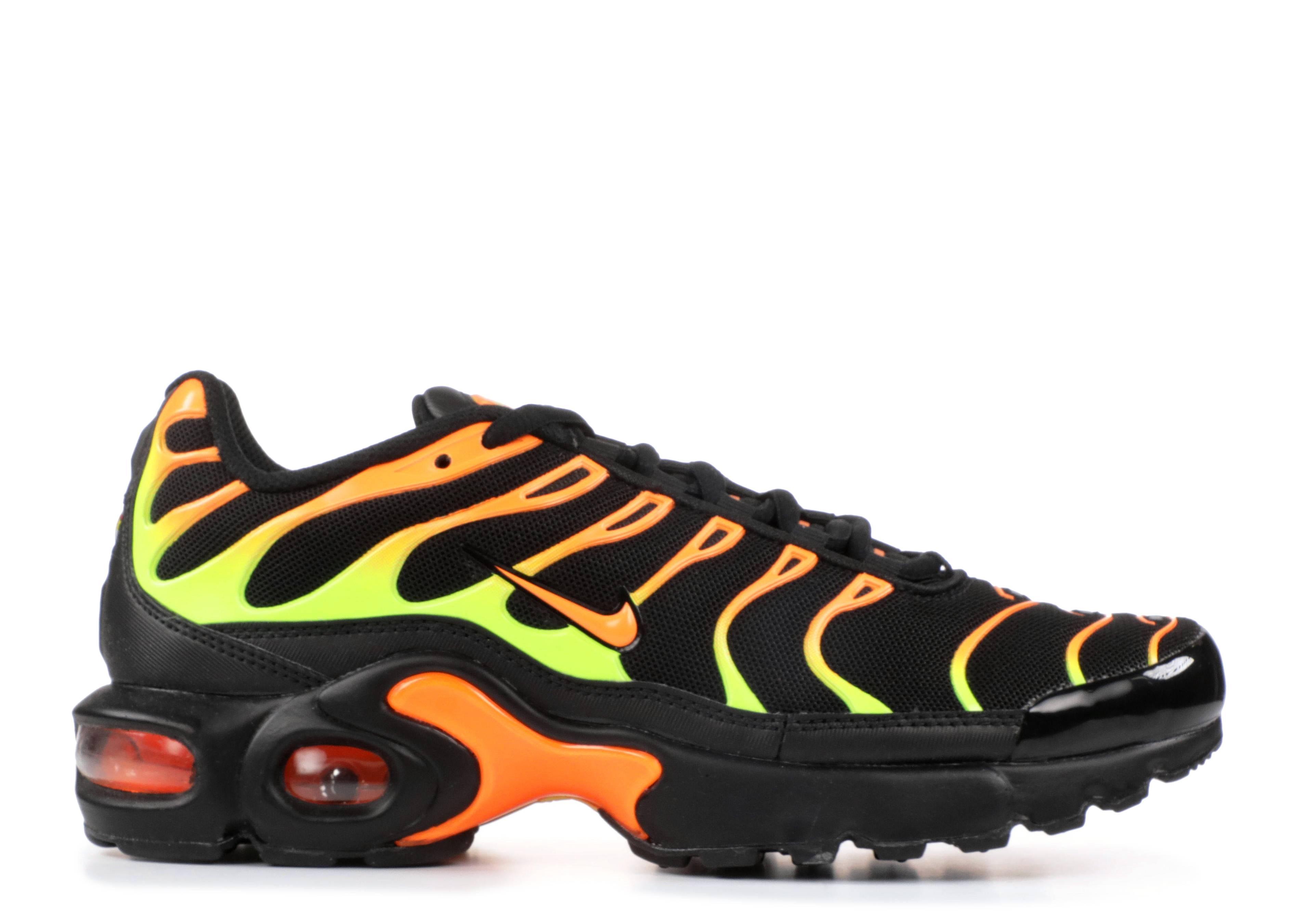 Air Max Plus (gs) - Nike - 655020 084 - black volt-total orange  882788580