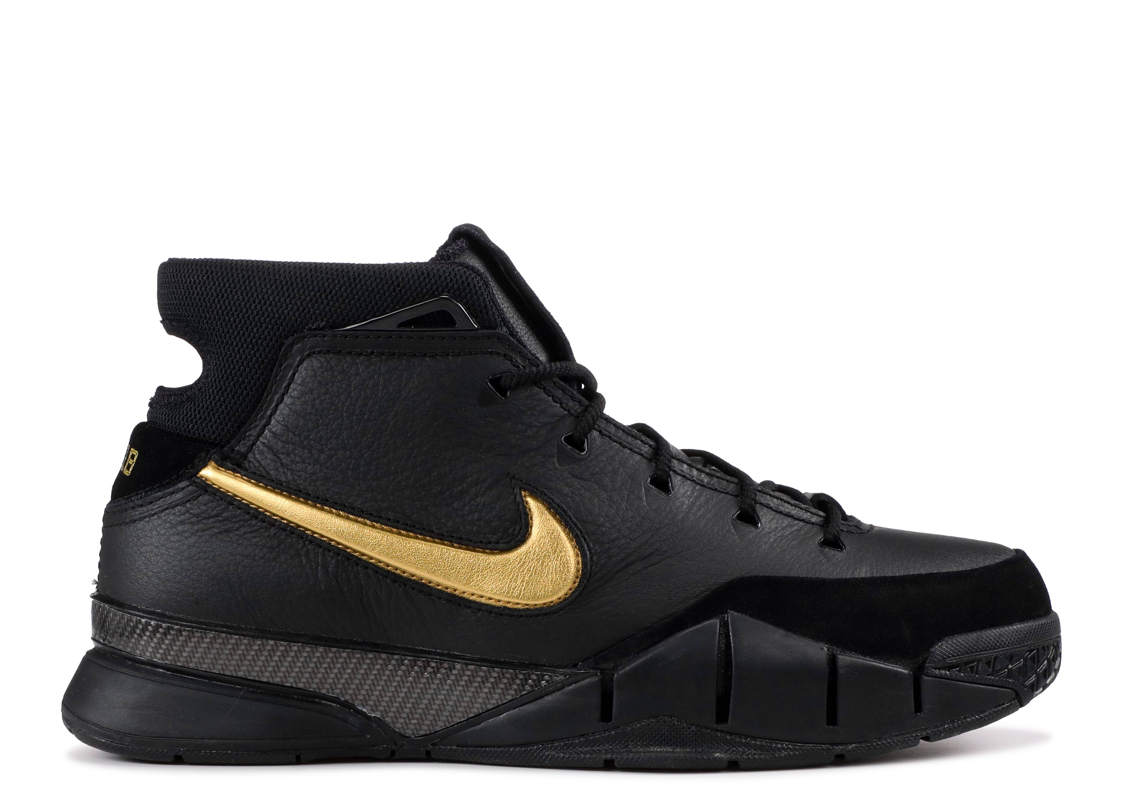 Men's Nike Zoom Kobe 1 Protro Mamba Day Black Gold Size 11 Basketball Shoes