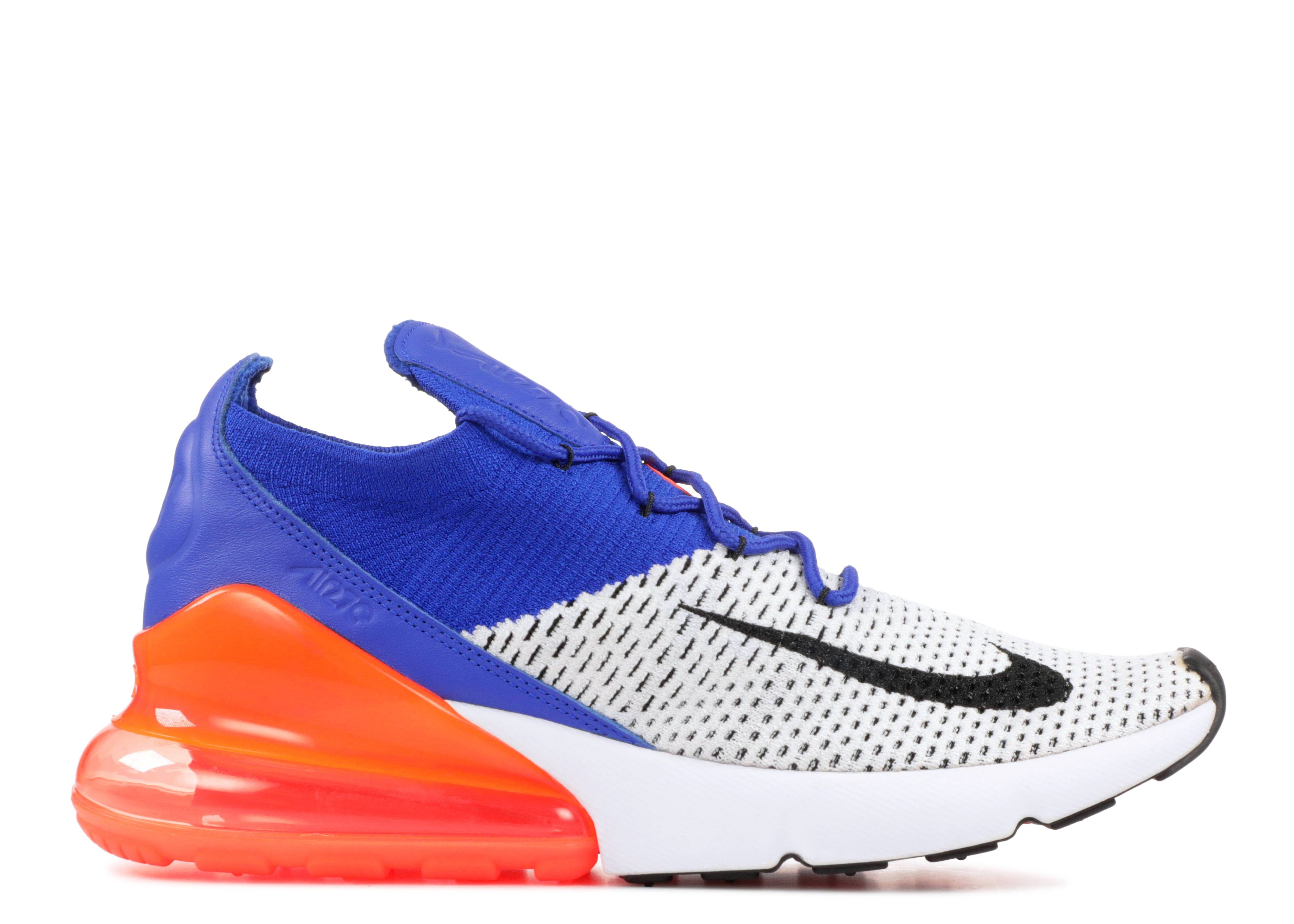 Air Max 270 Flyknit 'Blue Crimson'