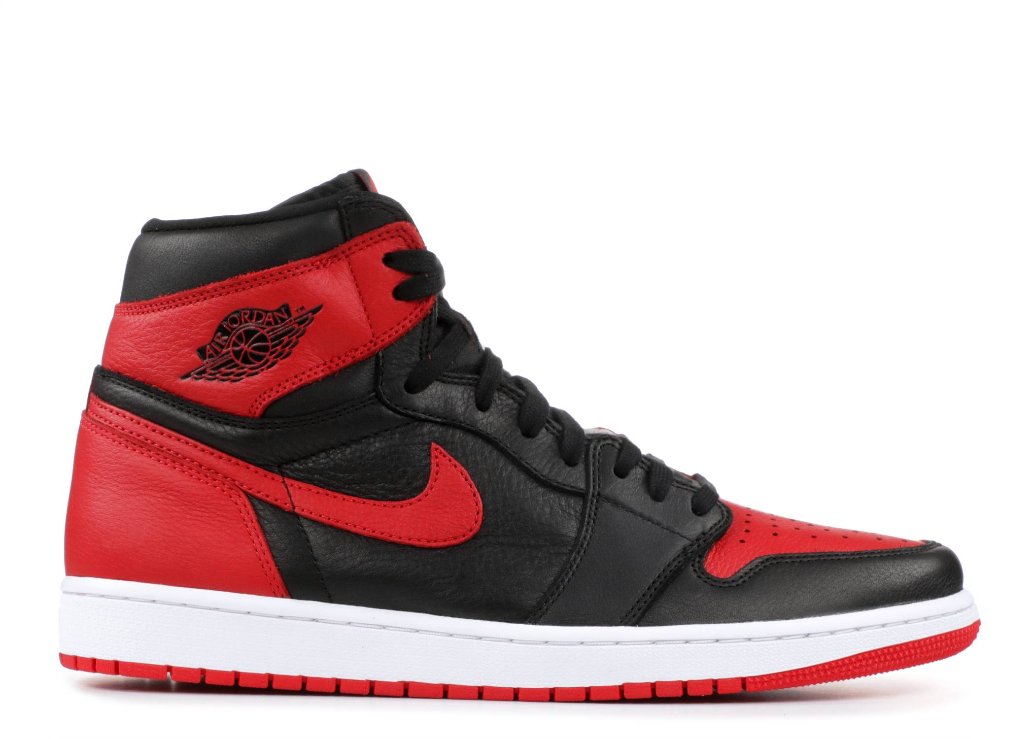 nike air jordan 1 retro high strap blanc noir rouge