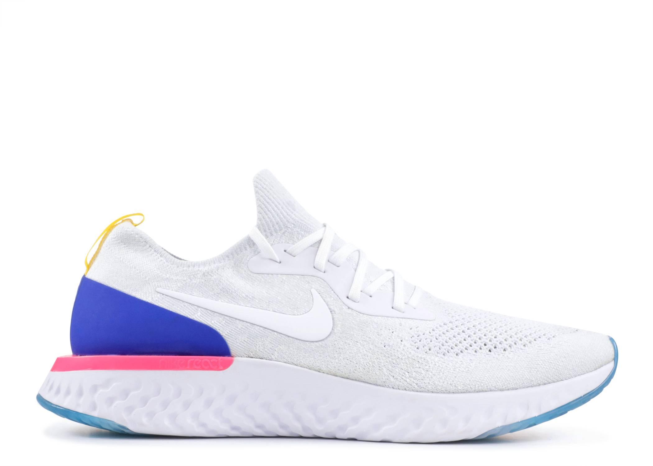 135c3da3b87b Nike Epic React Flyknit - Nike - AQ0067 101 - white white-racer blue ...