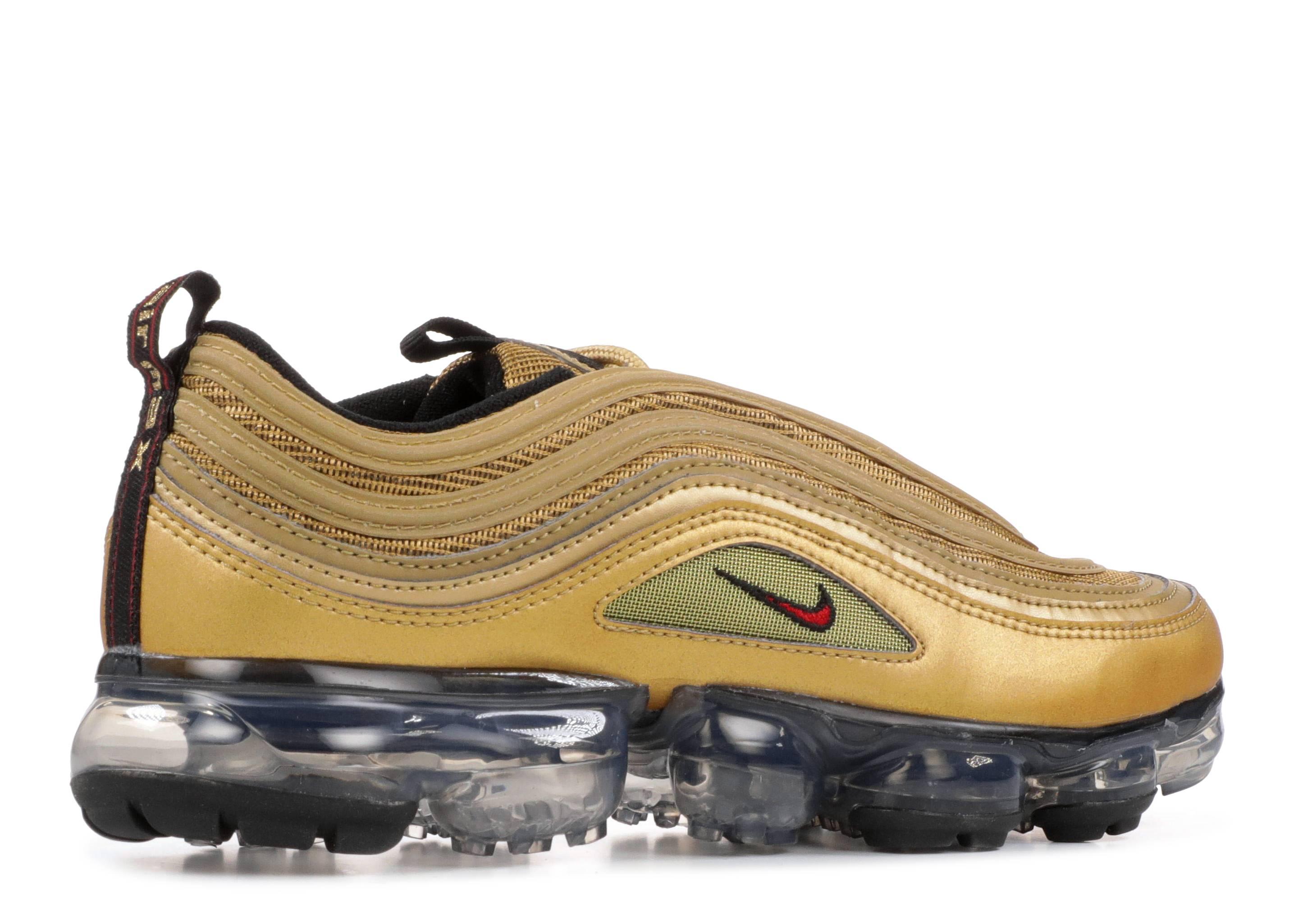 3c3ed27665a Nike Air Vapormax 97 (gs) - Nike - aq2657 700 - metallic gold black white varsity  red