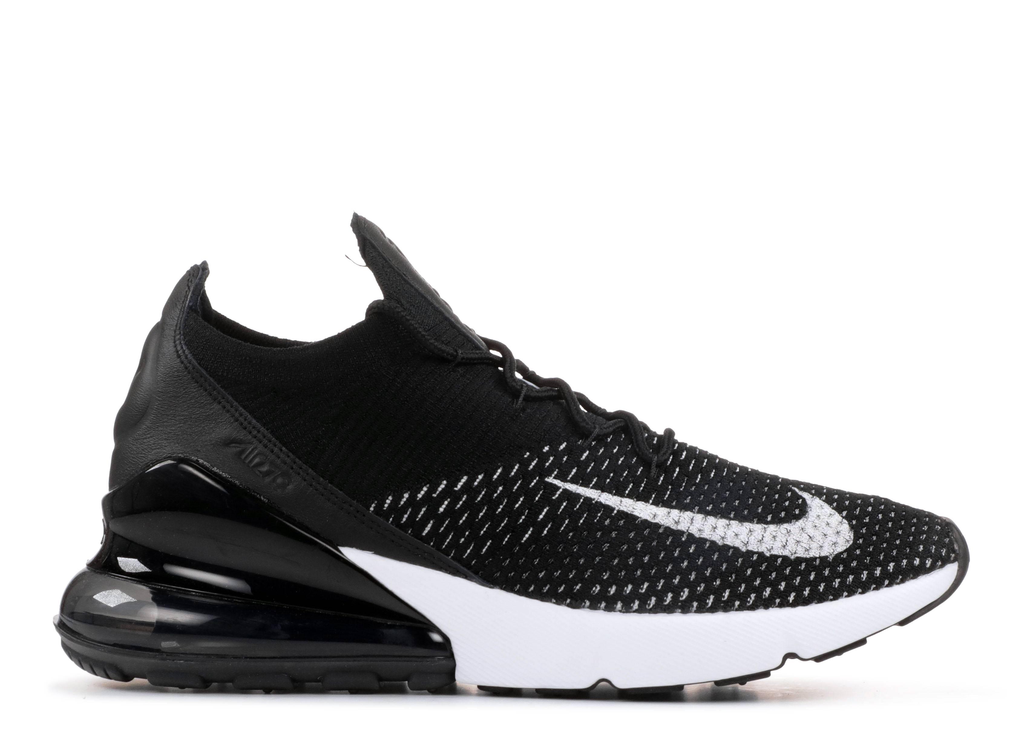 2772b0872bdd W Air Max 270 Flyknit - Nike - AH6803 001 - black white-white ...