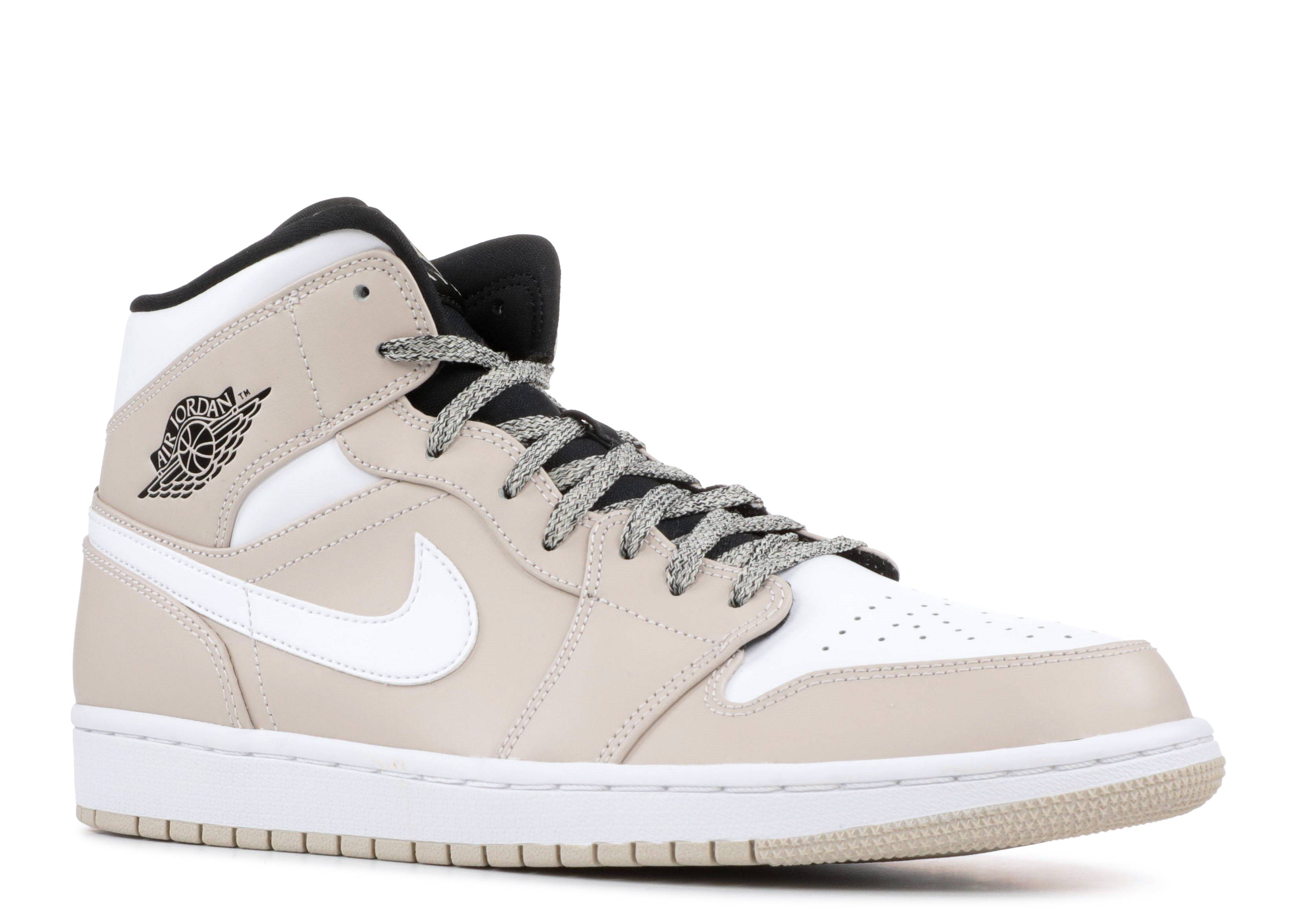 separation shoes d38f5 c083f AIR JORDAN 1 MID - Air Jordan - 554724 047 - desert sand  white -black    Flight Club