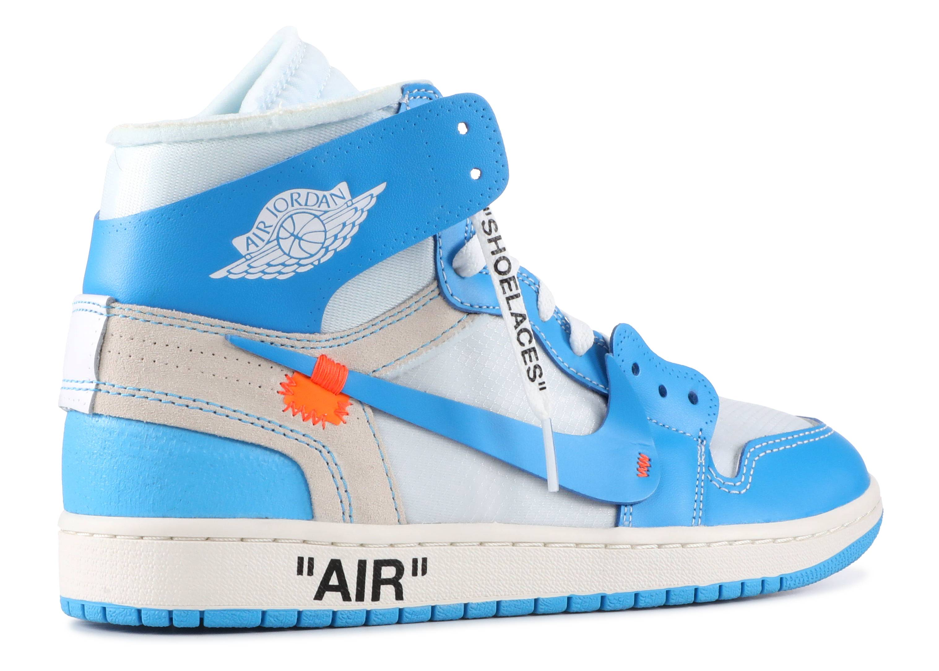 air jordan 1 off white bleu