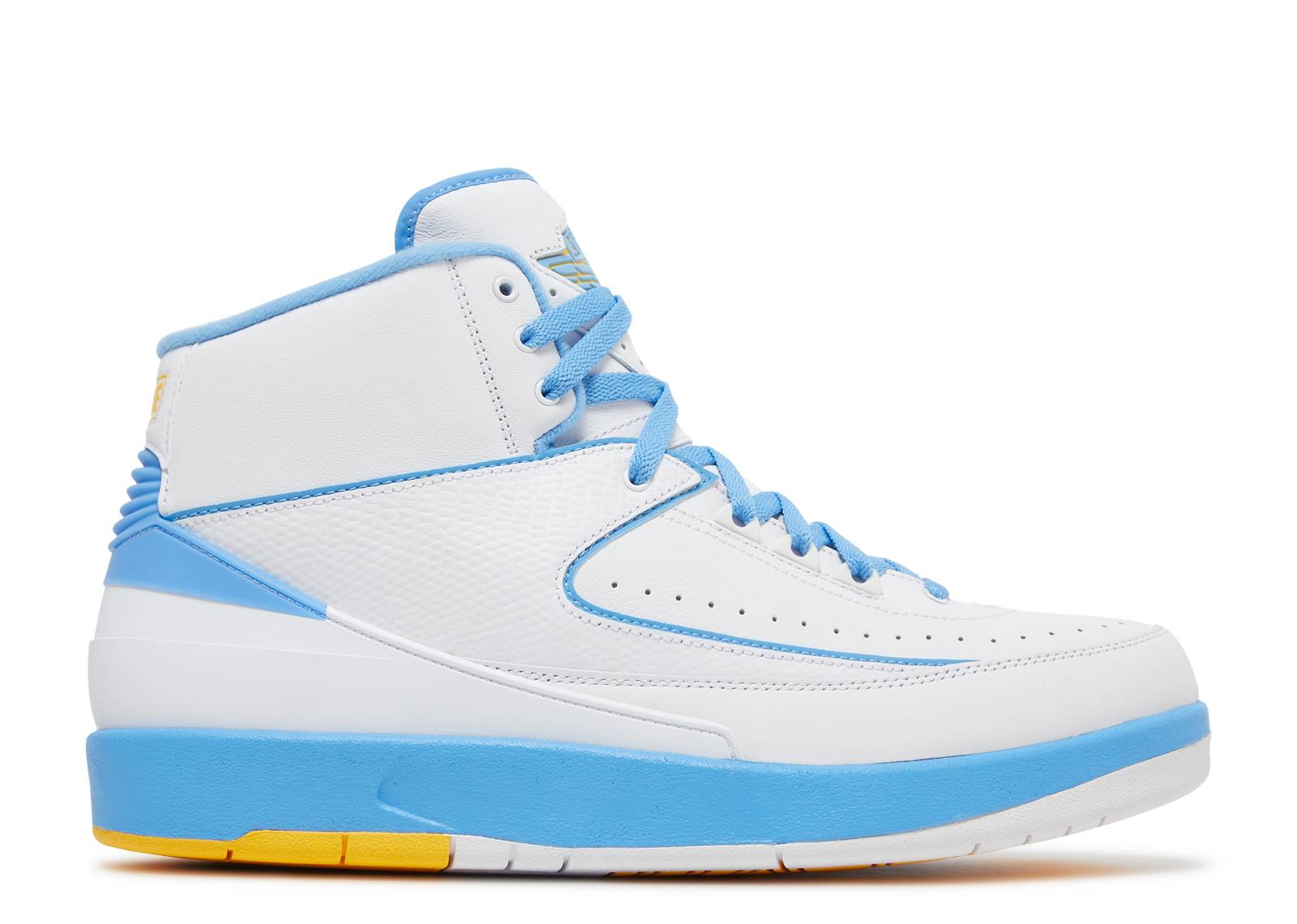Jordan Men Air Jordan 2 Retro Low (14 US, white university blue)