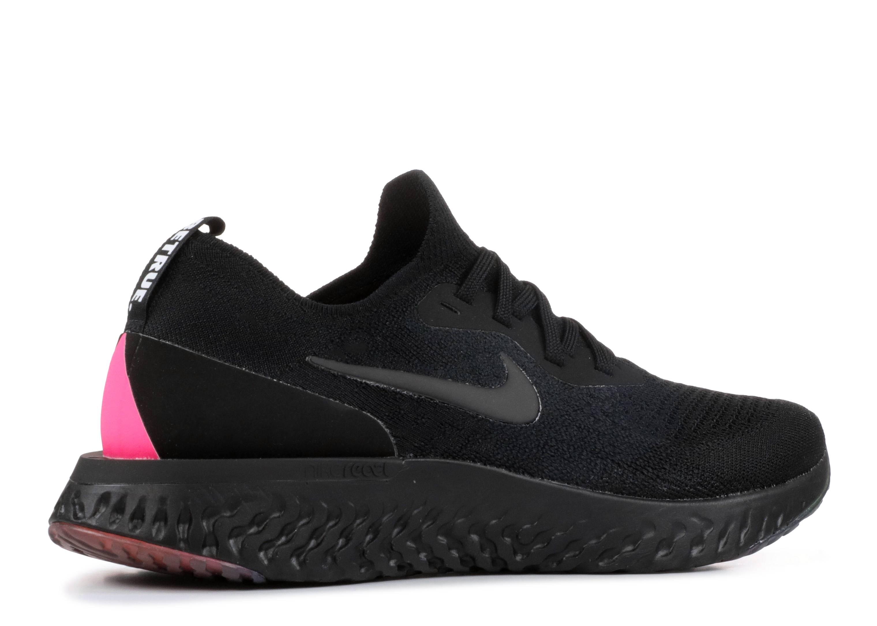Nike Epic React Flyknit Betrue - Nike - AR3772 001 - black black - pink  blast  9a4e24bef