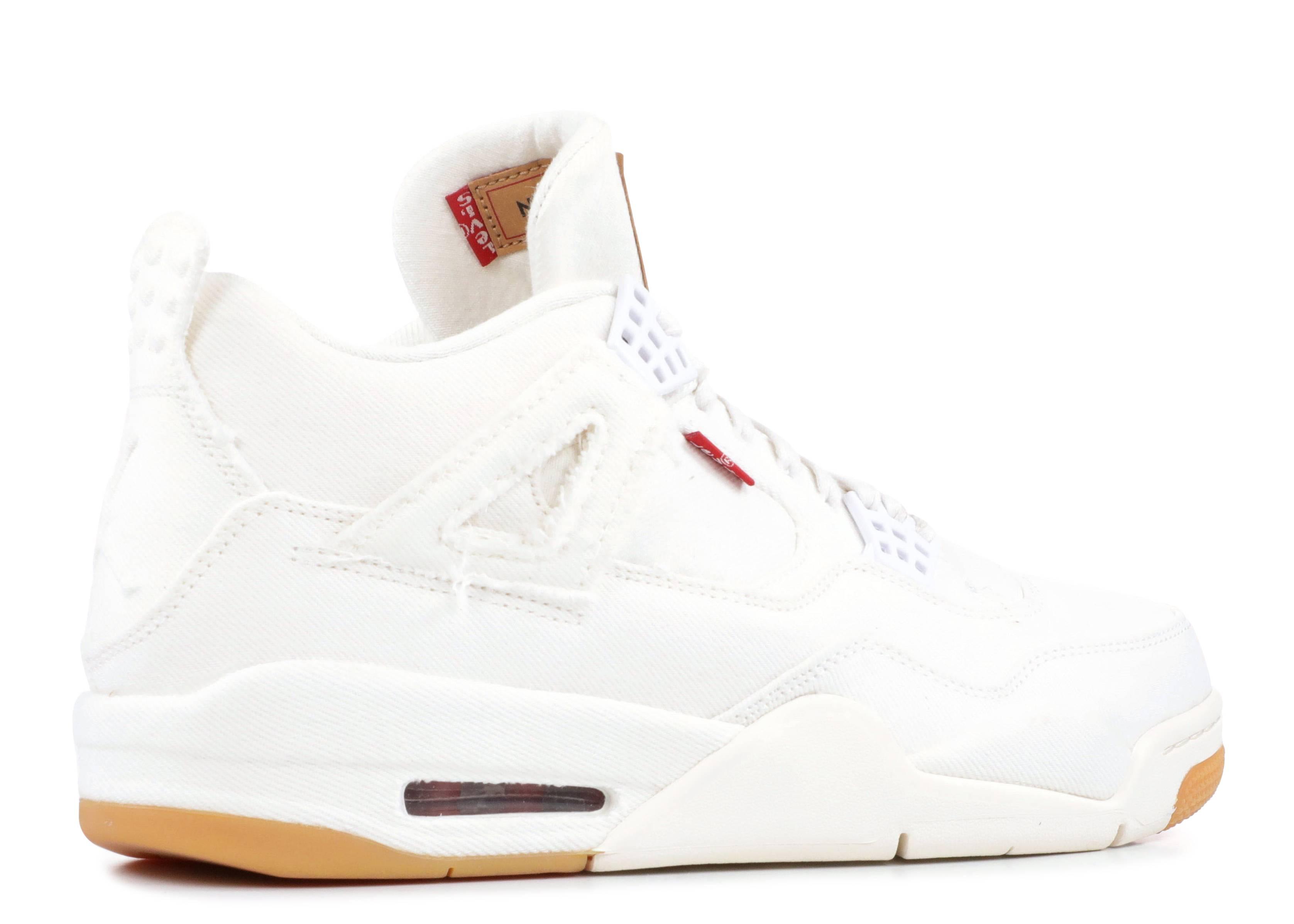 ebb1aa140cdf Jordan 4 Retro Levi s White