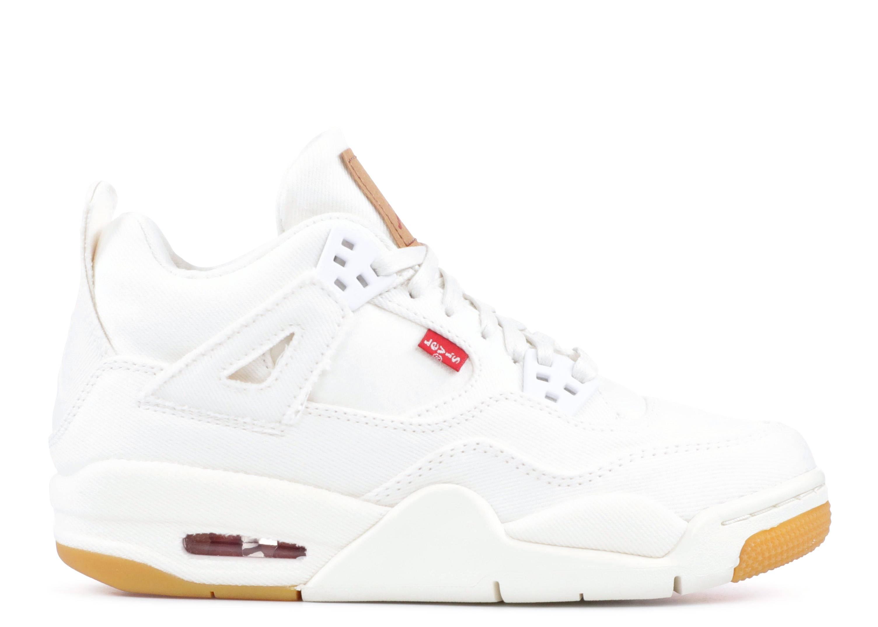 online store 7c9db 4507a Levi's x Air Jordan 4 Retro GS 'White Denim'