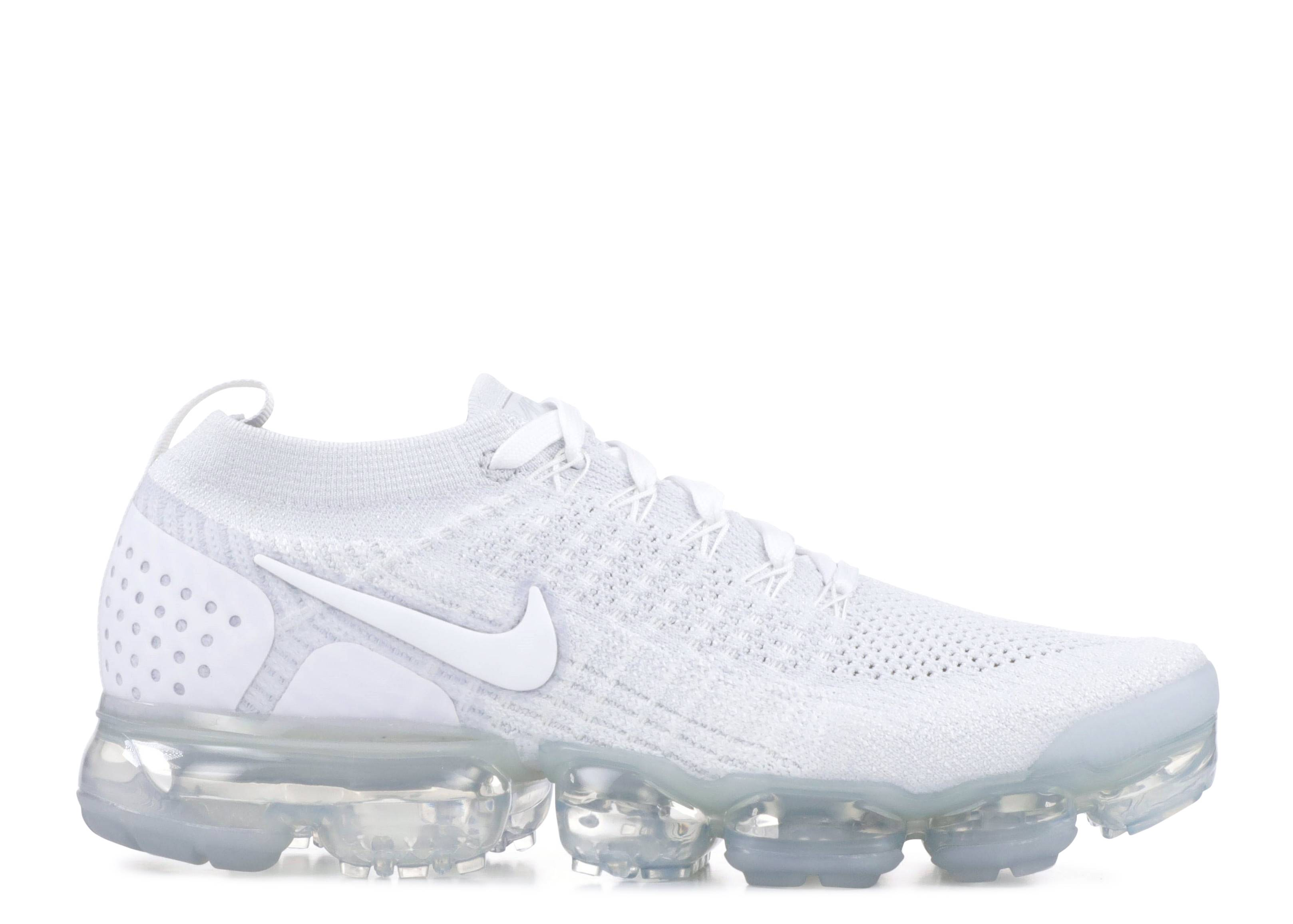 "w nike air vapormax flyknit 2 ""pure platinum"""