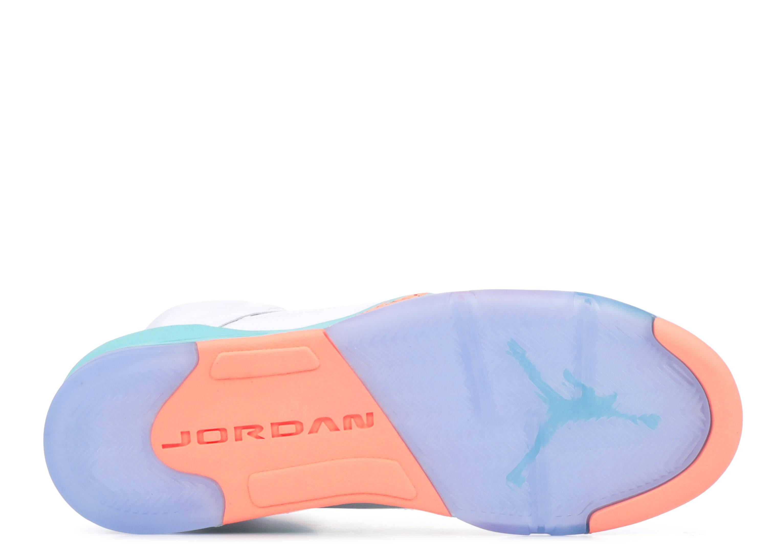 Air Jordan 5 Retro Gg - Air Jordan - 440892 100 - white crimson pulse-light  aqua  0aa22b950