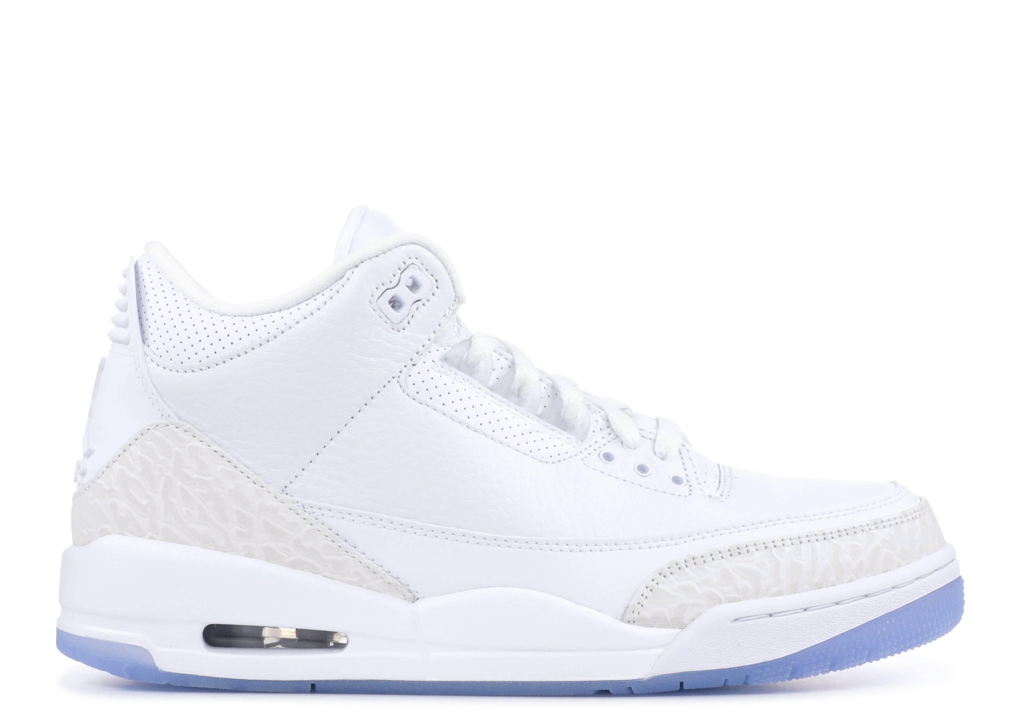 ba0517e5a45f4e Air Jordan 3 Retro - Air Jordan - 136064 111 - white white-white ...