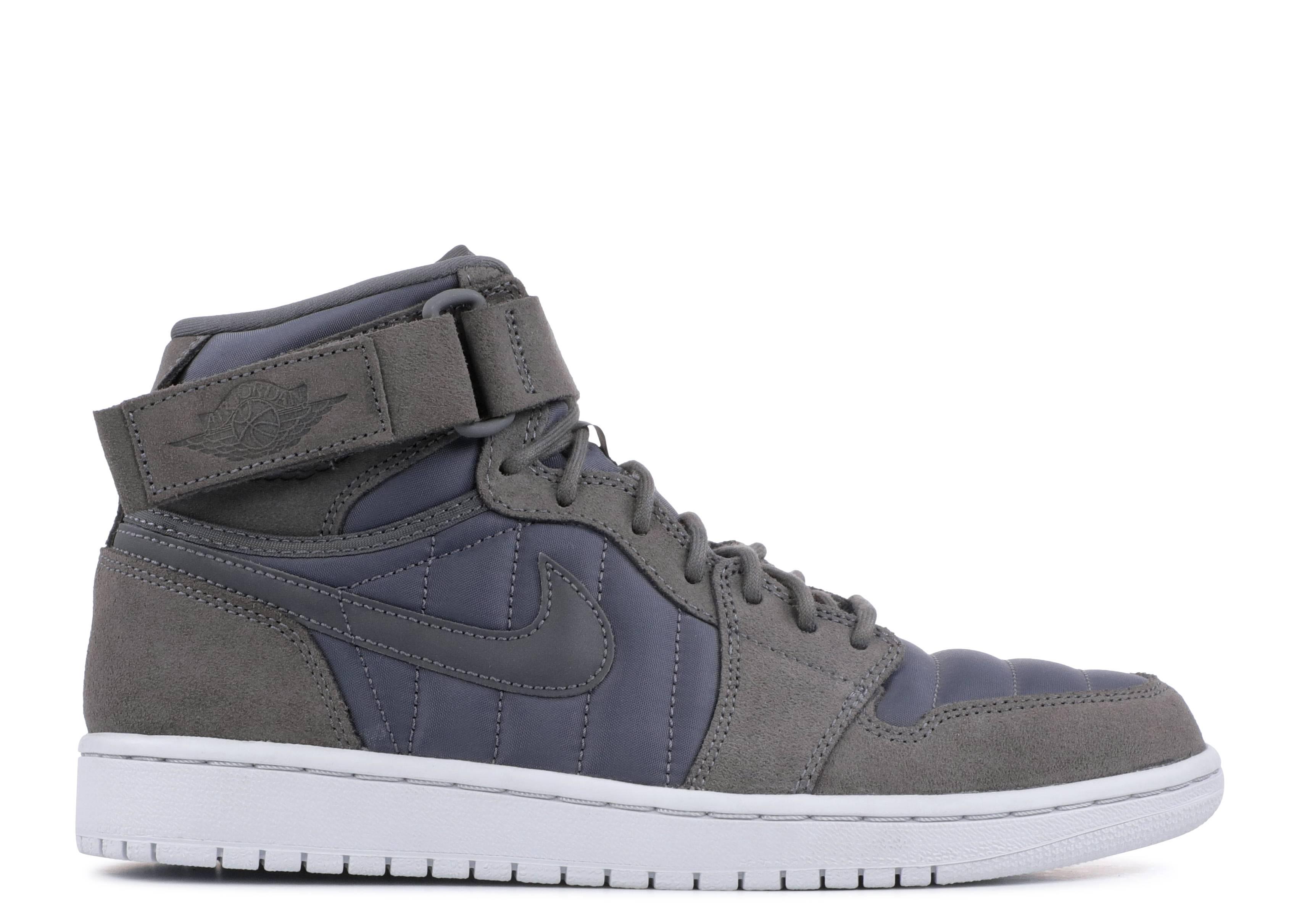 cheap for discount eb200 7e9e0 Air Jordan 1 High Strap - Nike - 342132 005 - dark grey/dark grey ...