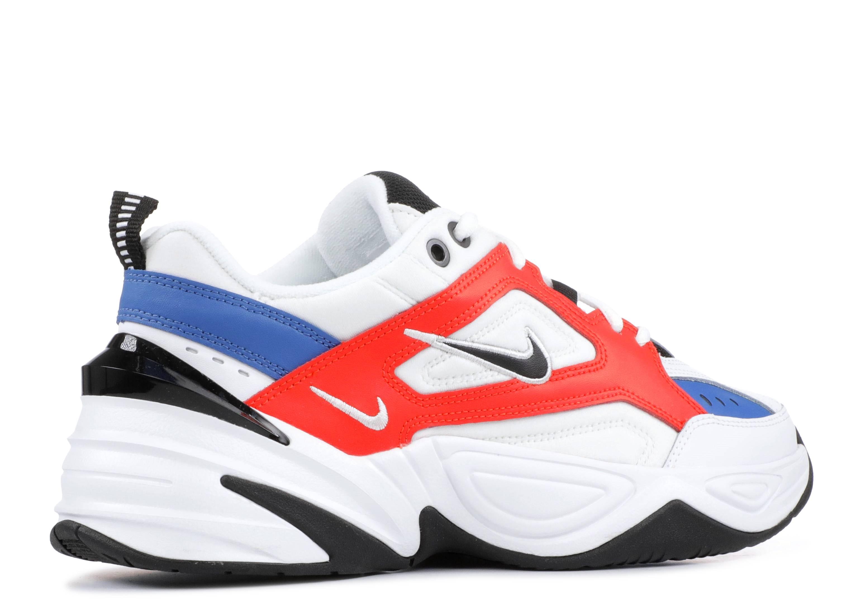 Nike M2K Tekno Sneaker Herren summit white black team orange