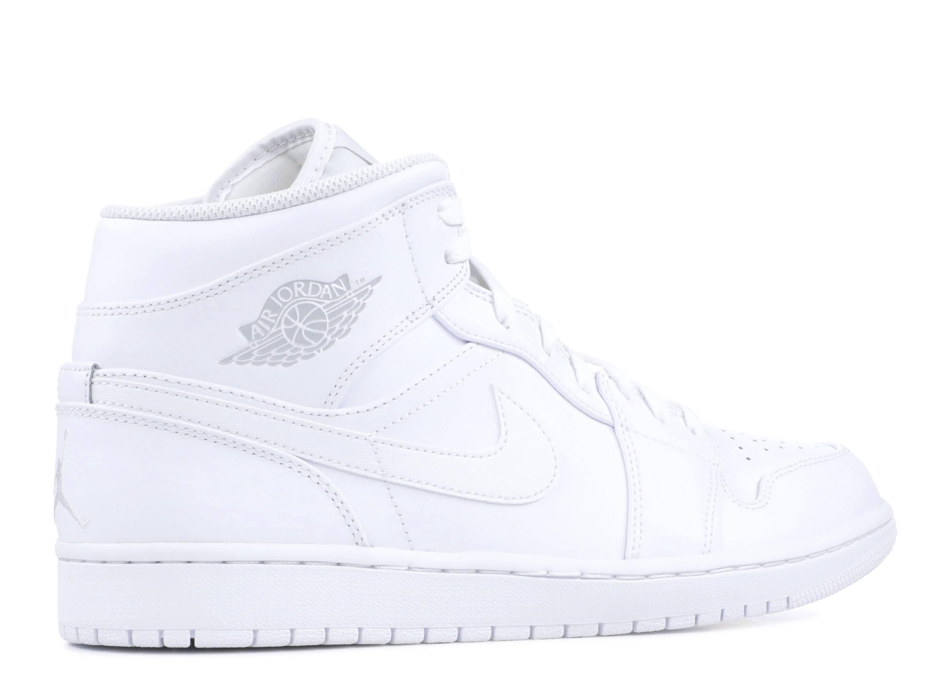 Air Jordan 1 Mid - Air Jordan - 554724 104 - white pure platinum-white  e8e457ac7