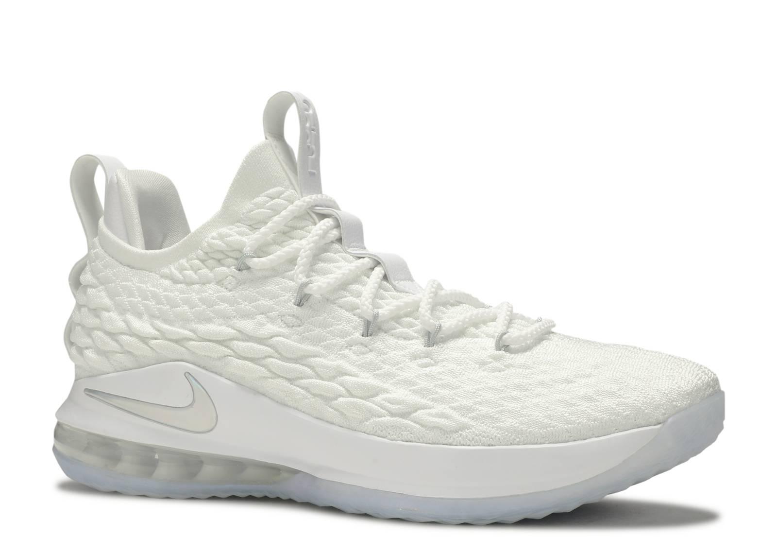0ab23aefffa Nike LeBron 15 Low - Nike - AO1755 100 - white metallic silver ...