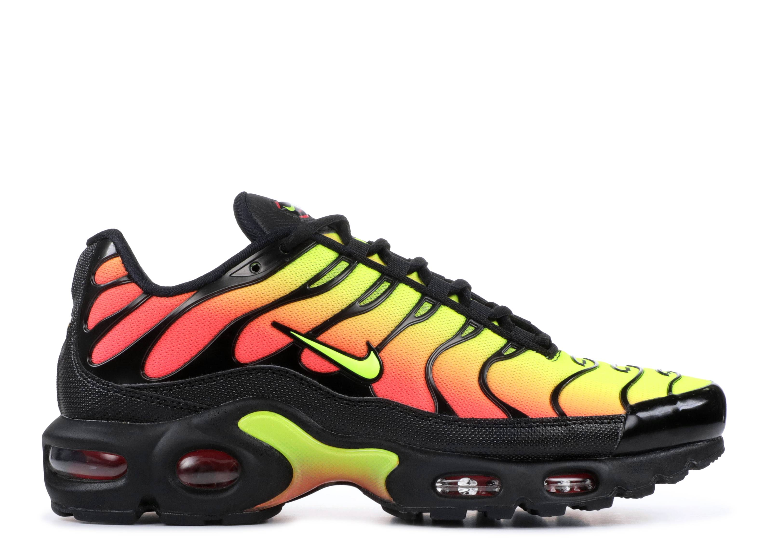 873b6e72220 WMNS AIR MAX PLUS TN SE - Nike - aq9979 001 - black volt-solar red ...