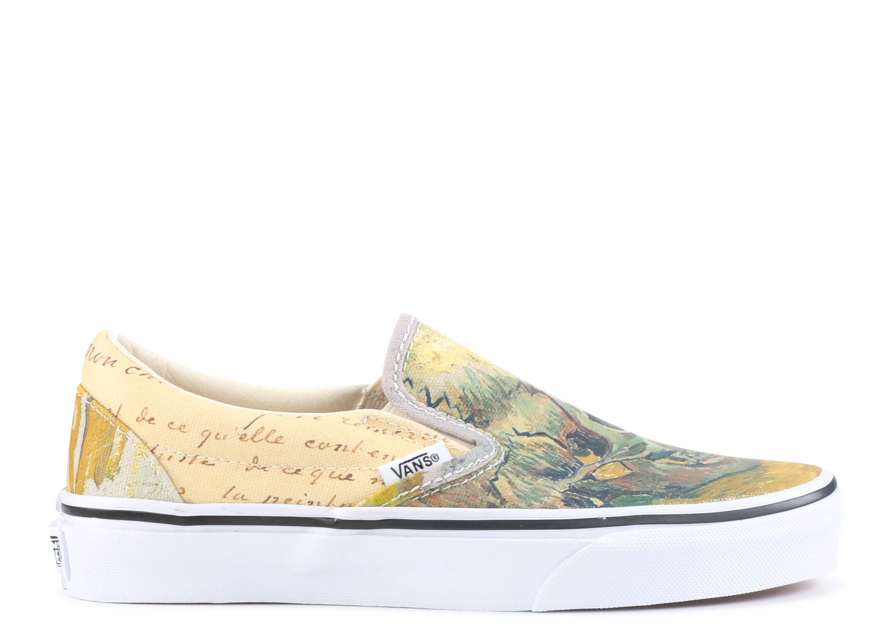 "Classic Slip on ""Vincent Van Gogh Skull"""