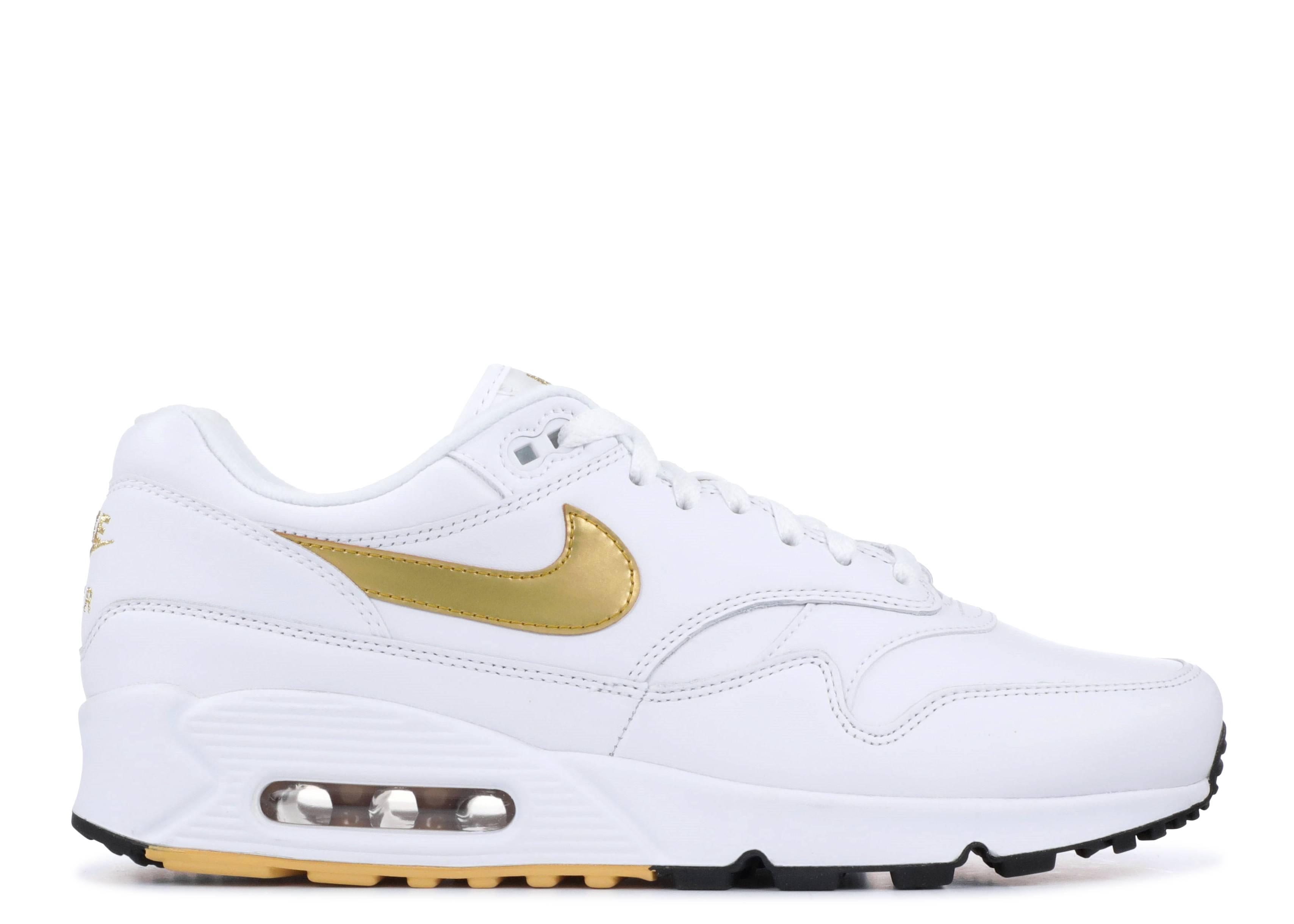 more photos dac0f 4ae0a Air Max 90 1 - Nike - aj7695 102 - white metallic gold-black ...
