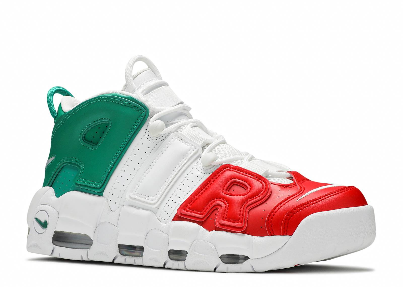 Air More Uptempo  96 Italy Qs - Nike - av3811 600 - university  red white-lucid green  8a8bd255b