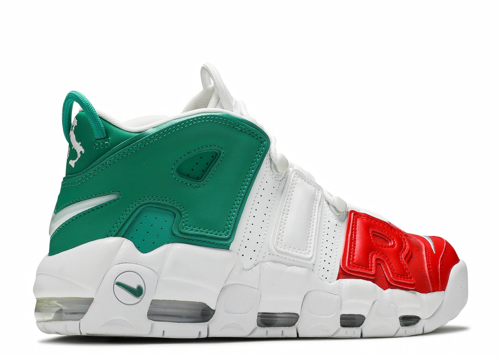 ee734bc894 Air More Uptempo '96 Italy Qs - Nike - av3811 600 - university  red/white-lucid green | Flight Club
