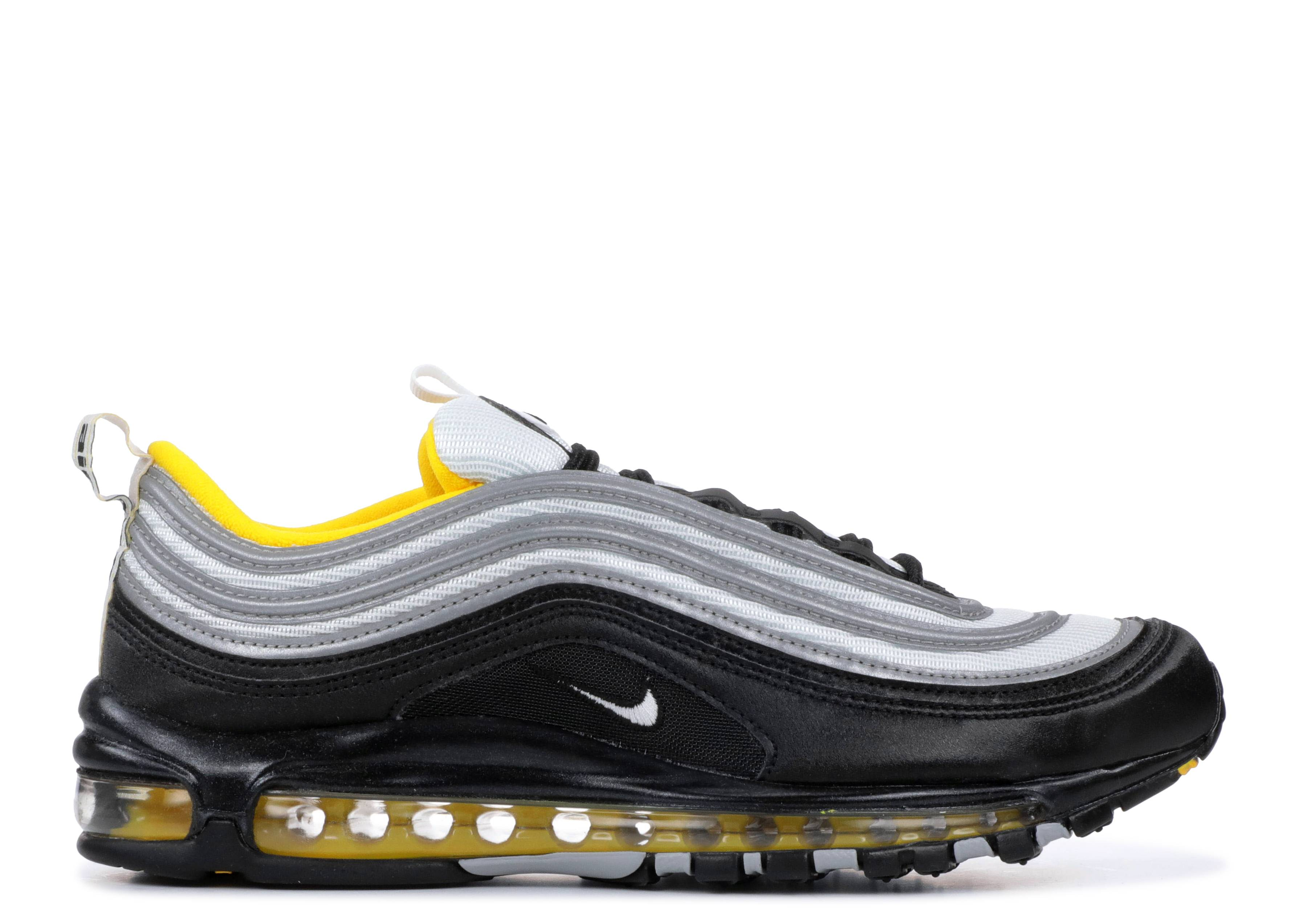 best website 15282 cd962 Nike Air Max 97 - Nike - 921826 008 - black white-amarillo   Flight Club