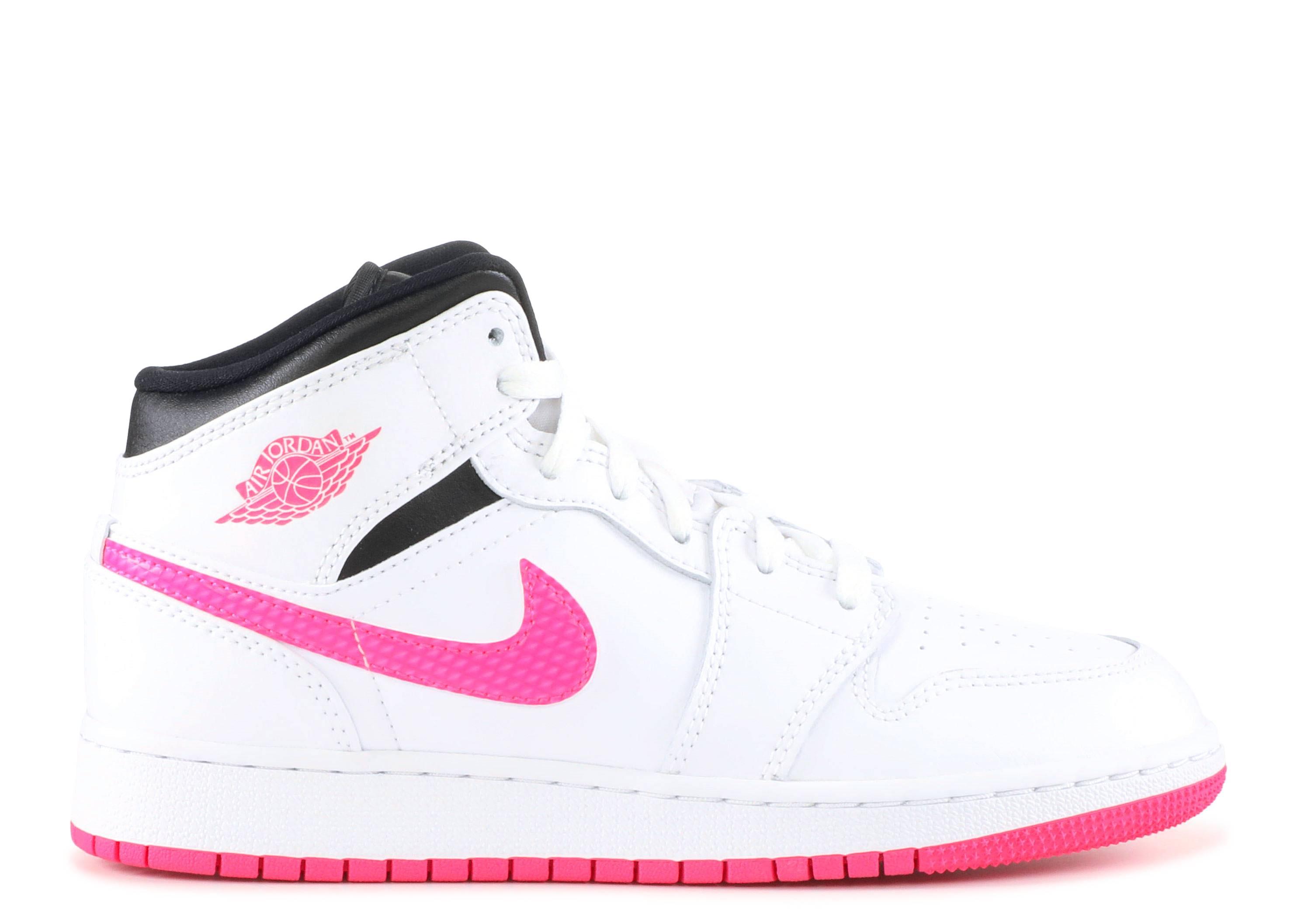 "Air Jordan 1 Retro Mid GS 'Hyper Pink' ""Hyper Pink"""