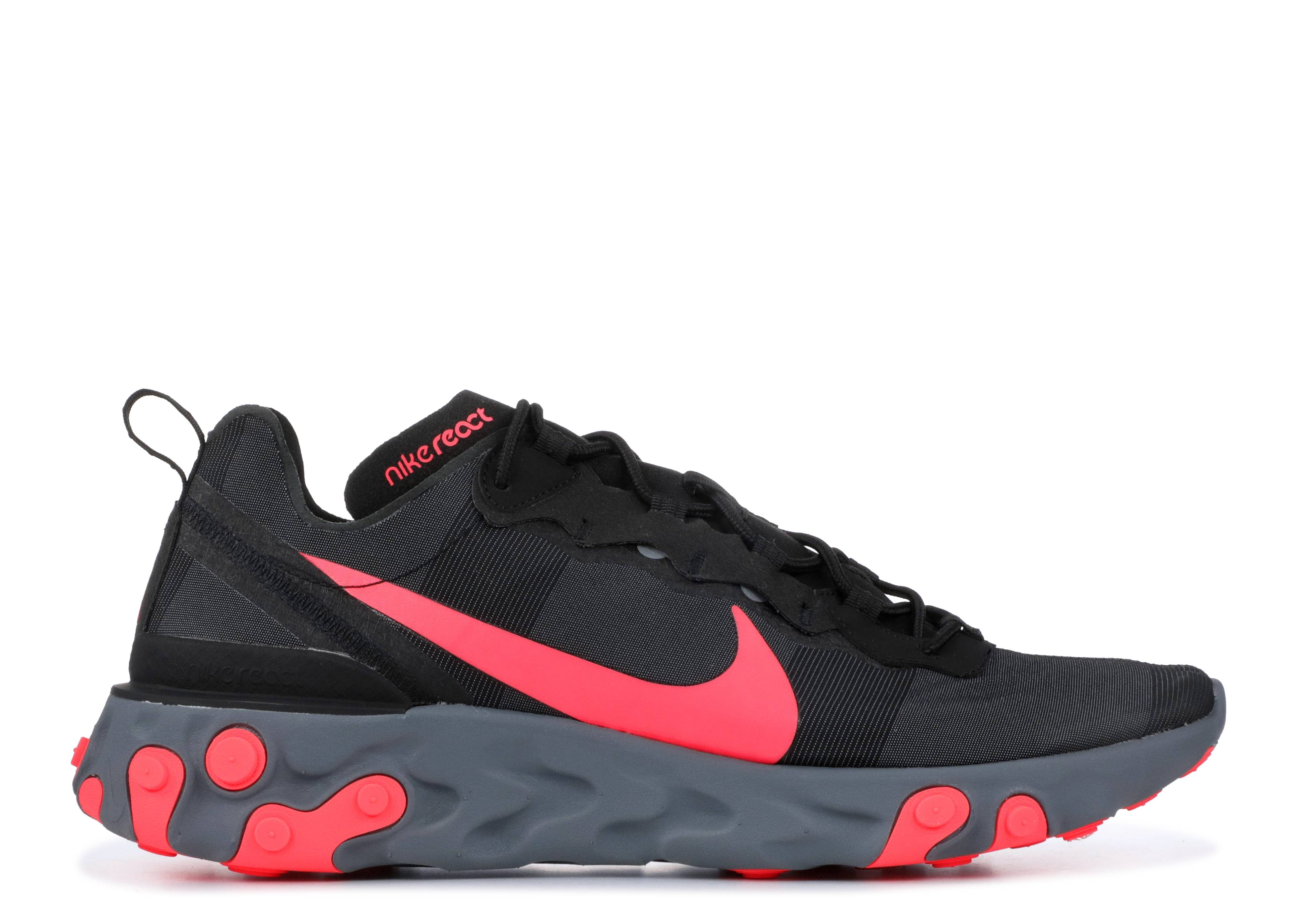 b9f7a85298759 Nike React Element 55 - Nike - bq6166 002 - black solar red-cool ...