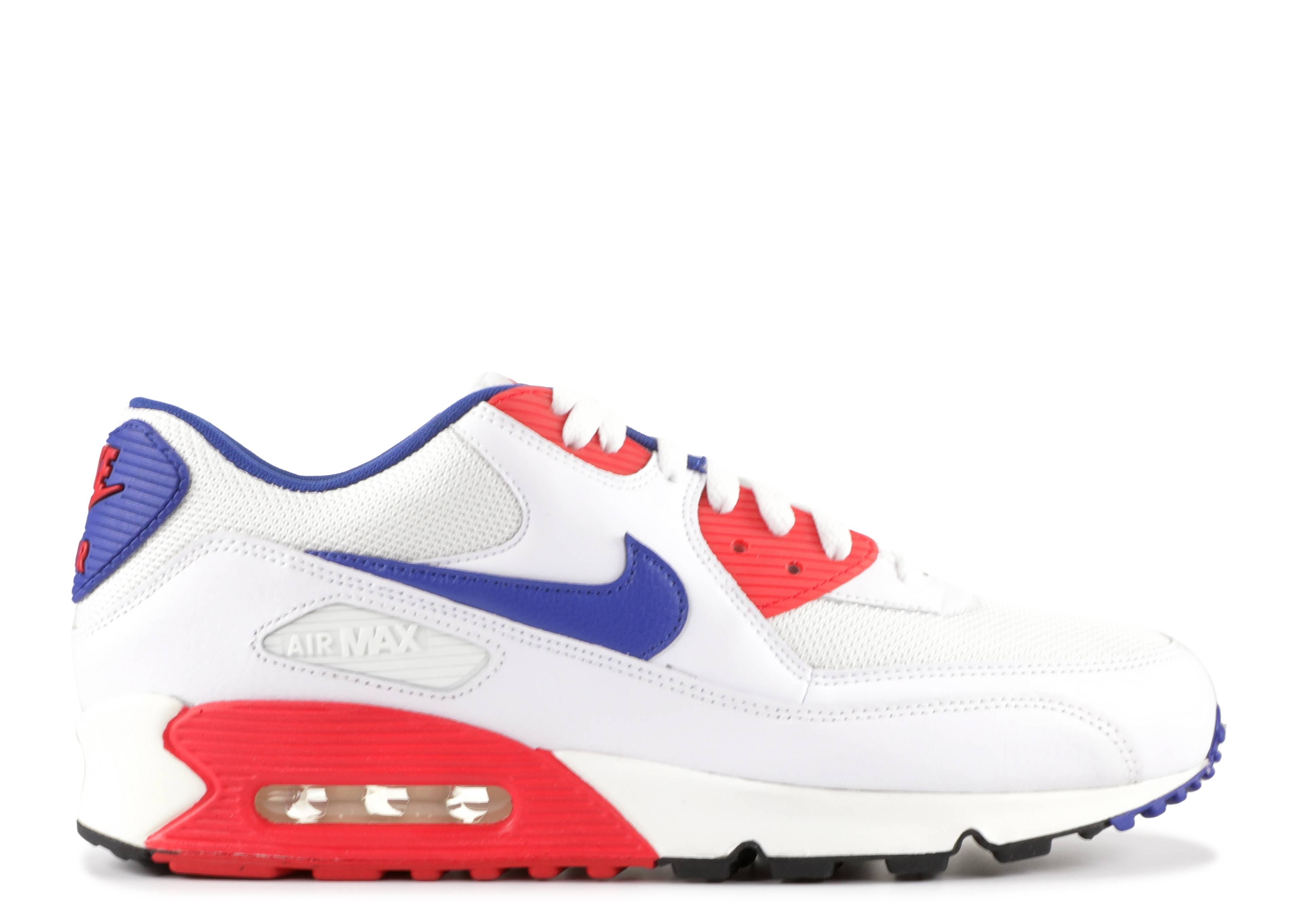 brand new 6e2d8 1cd7d Nike Air Max 90 Essential - Nike - 537384 146 - white hyper blue-hyper red- white   Flight Club