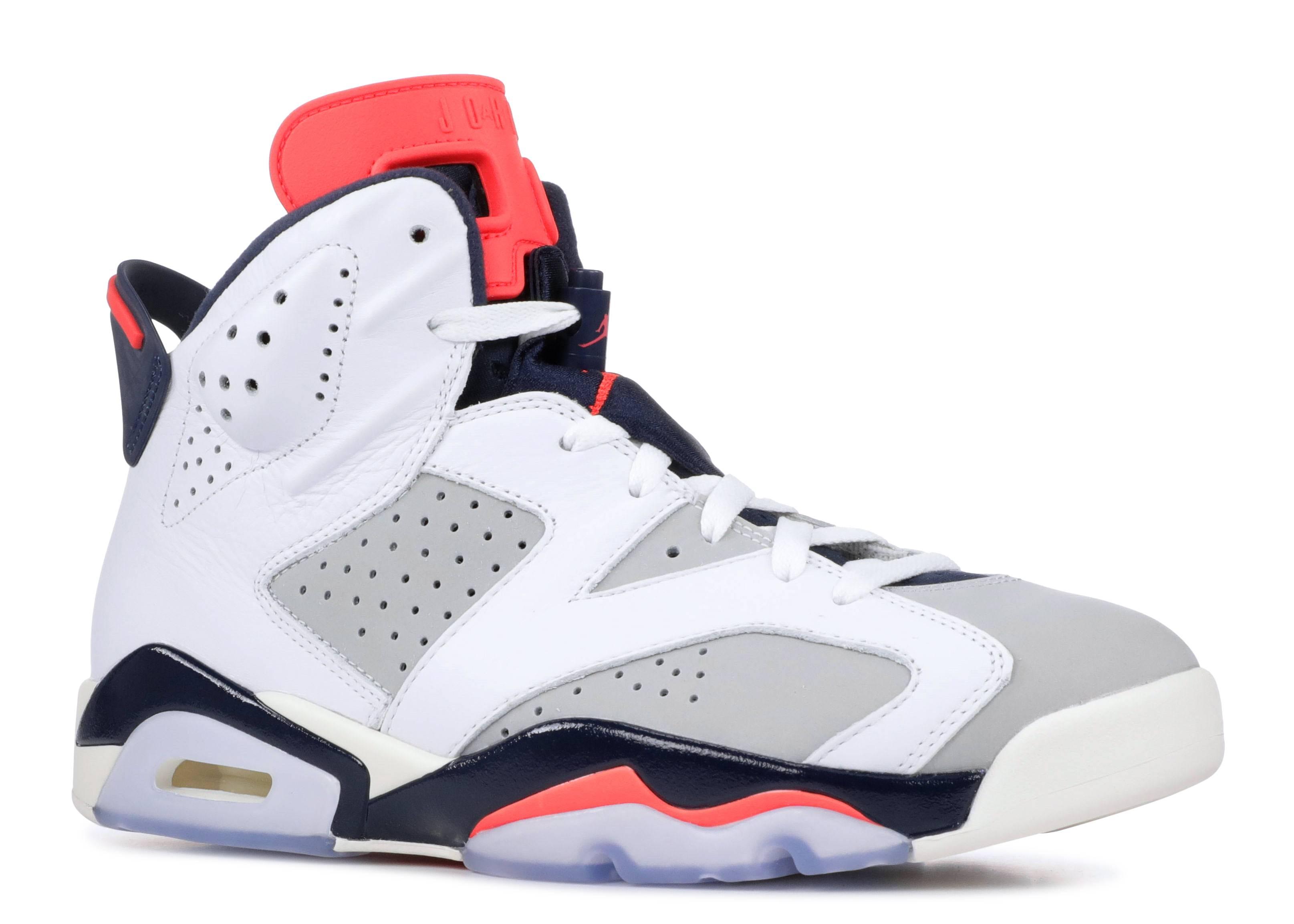 a8c3feacaa4b Mens Air Jordan 6 Retro Whiteinfrared 23 Neutral Grey White ✓ Shoes ...