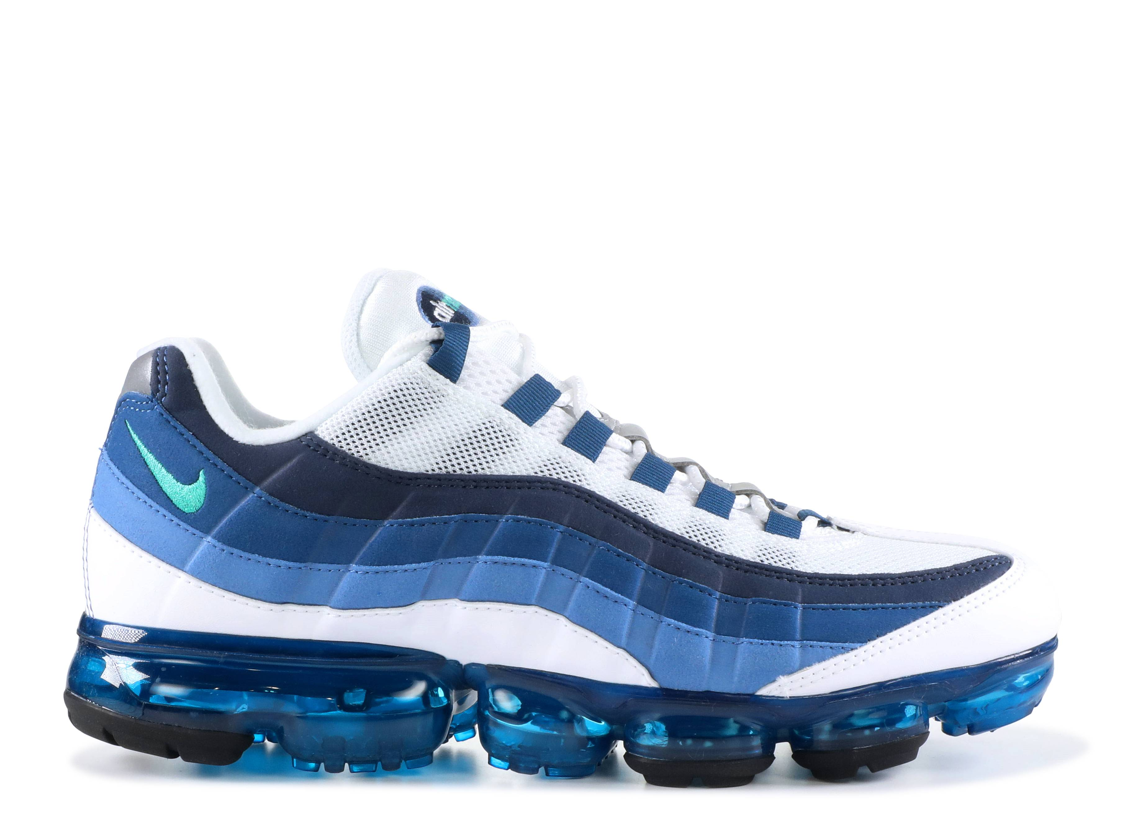 8468e00748 Air Vapormax '95 - Nike - aj7292 100 - white/new green-french blue ...
