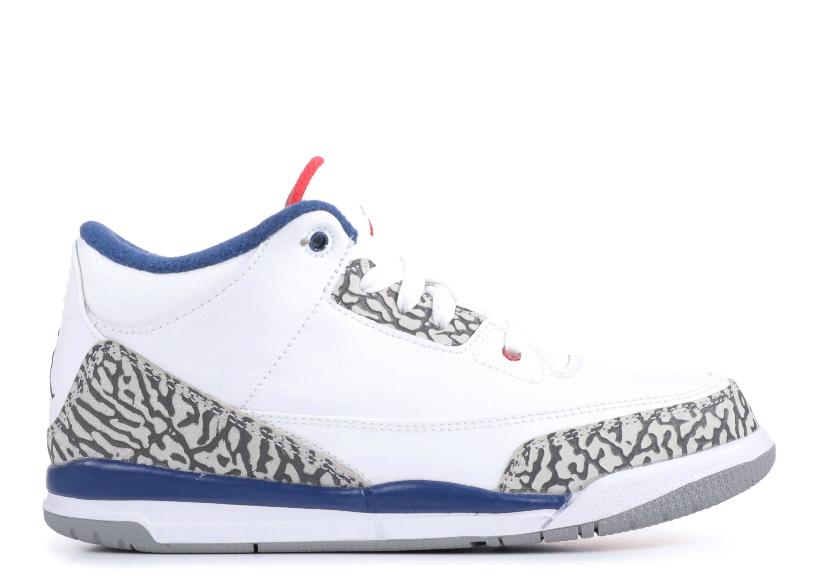 "jordan 3 retro bp ""true blue 2016 release"""