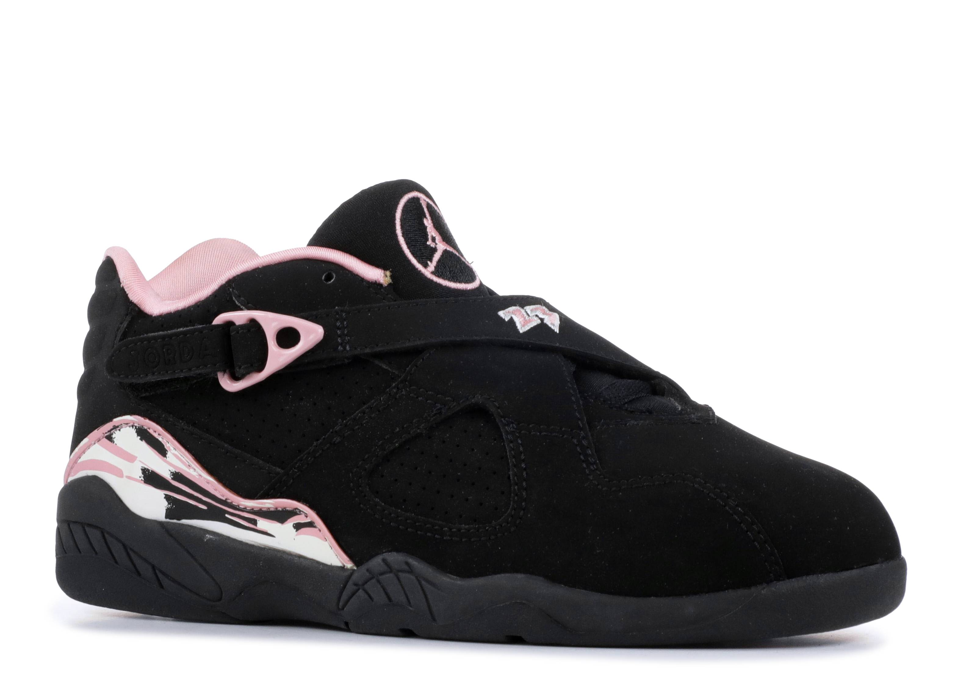 half off e0cb0 ce48c Jordan 8 Retro Low (ps) - Air Jordan - 317640 061 - black real pink-white    Flight Club