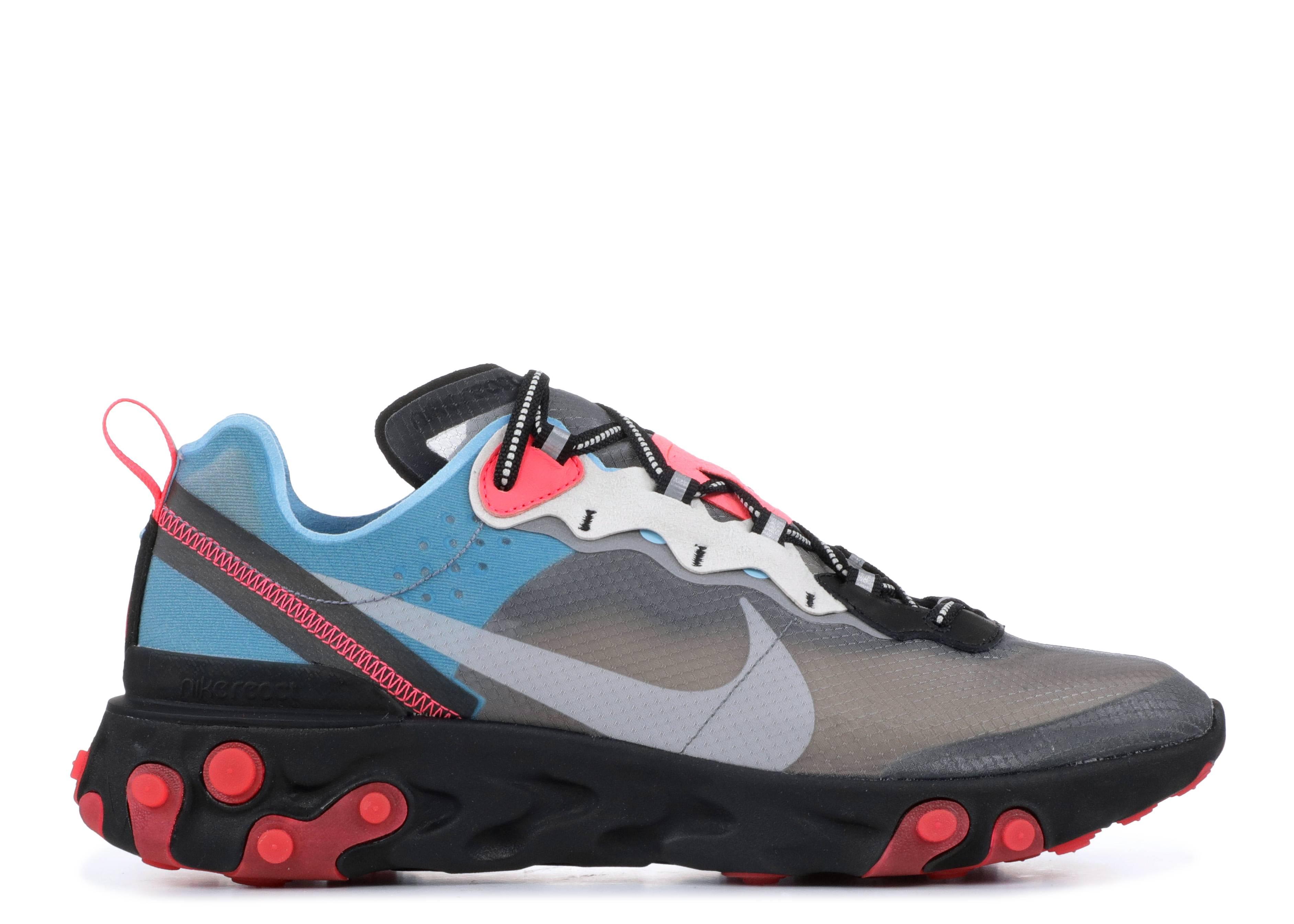 flojo Asado atmósfera  React Element 87 'Solar Red' - Nike - AQ1090 006 - black/cool grey-blue  chill-solar red | Flight Club