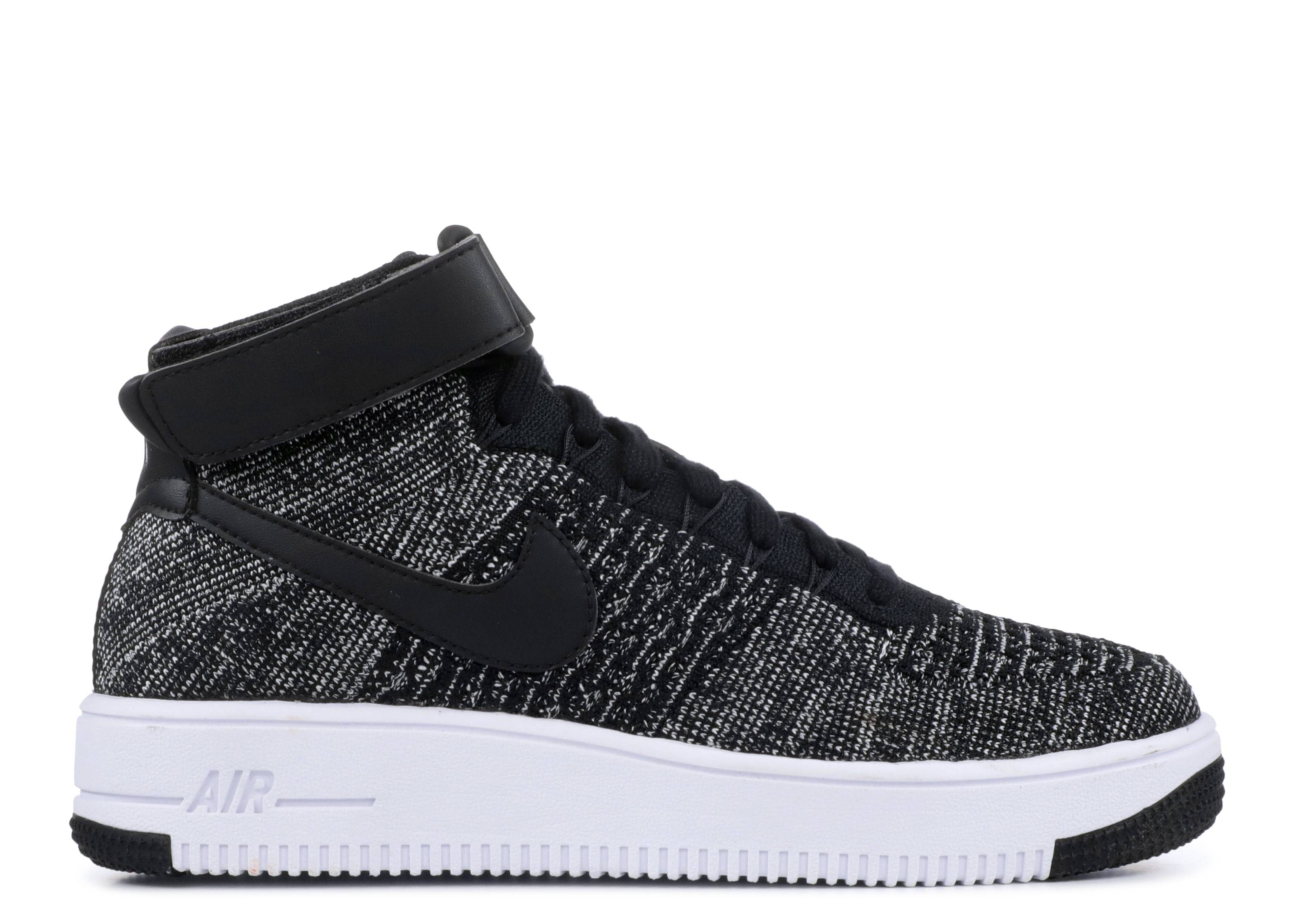 "af1 ultra flyknit mid (gs) ""Black White"""