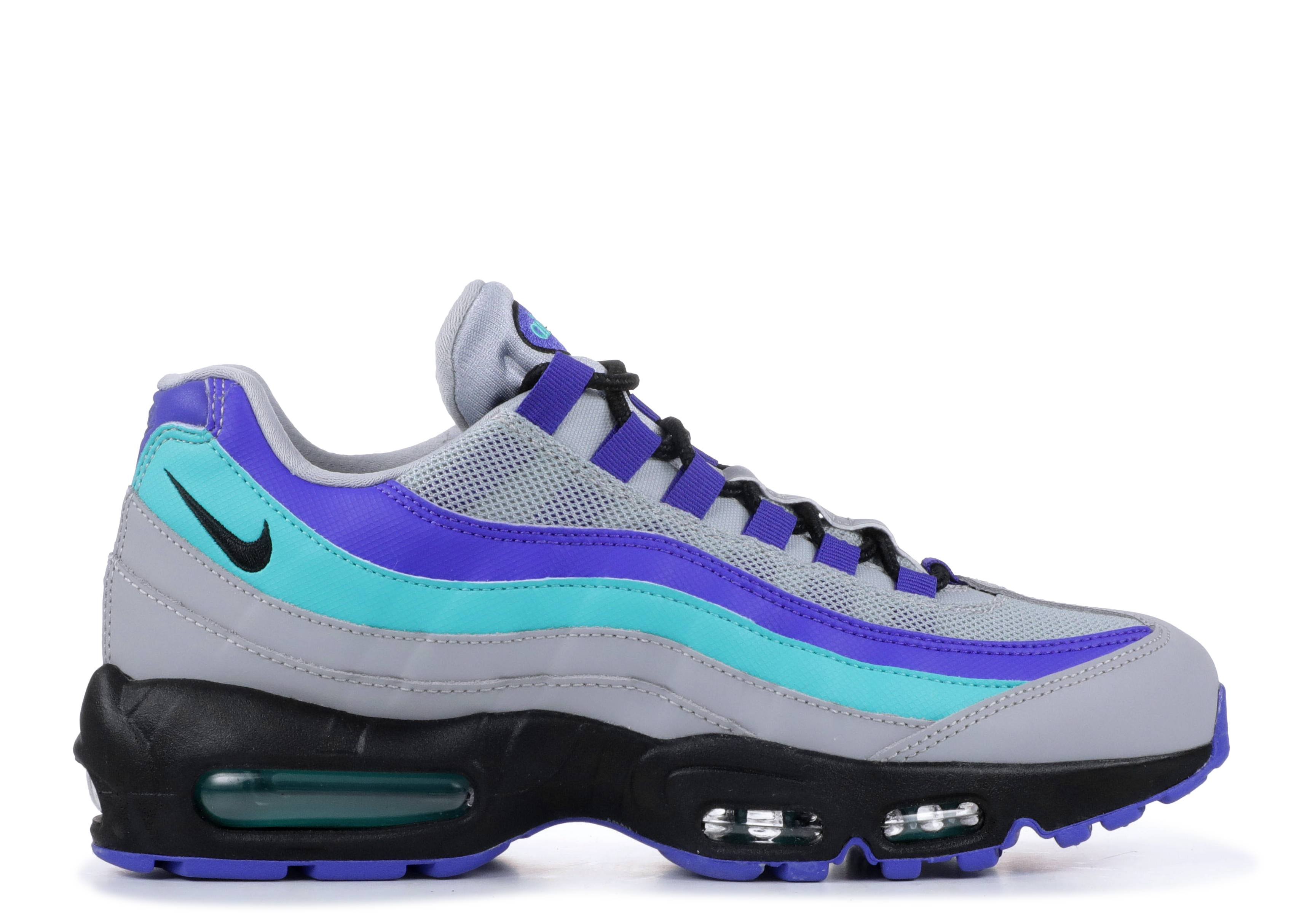 Air Max 95 Aqua Nike At2865 001 Wolf Grey Black Indigo