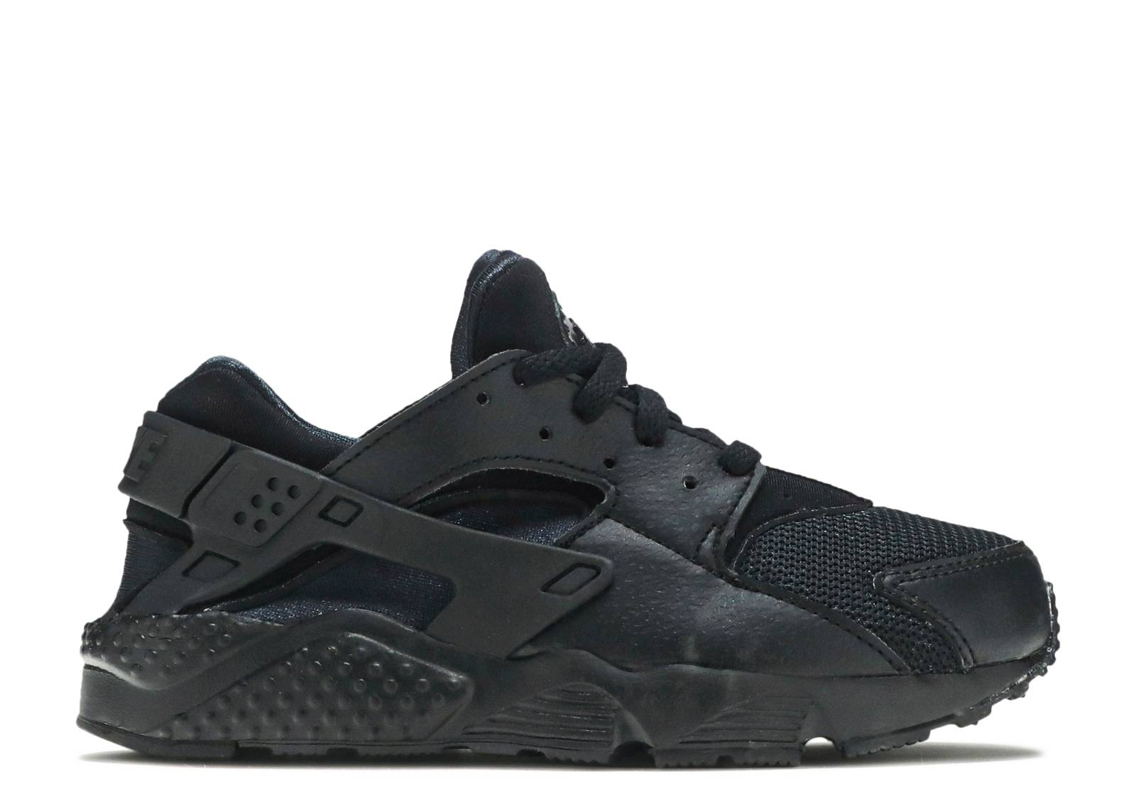 "nike huarache run ps  ""Triple Black"""