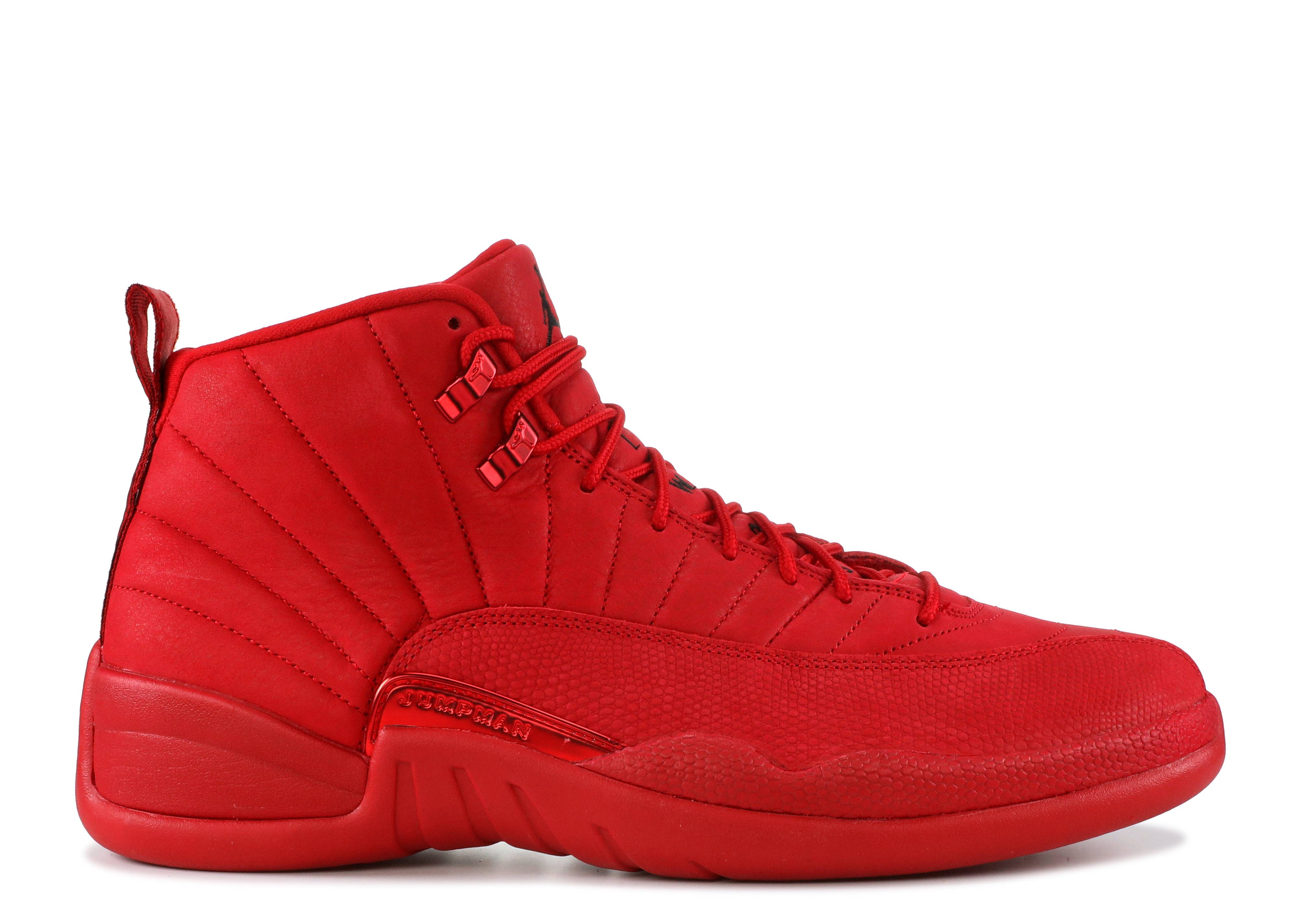 jordans 12 all red
