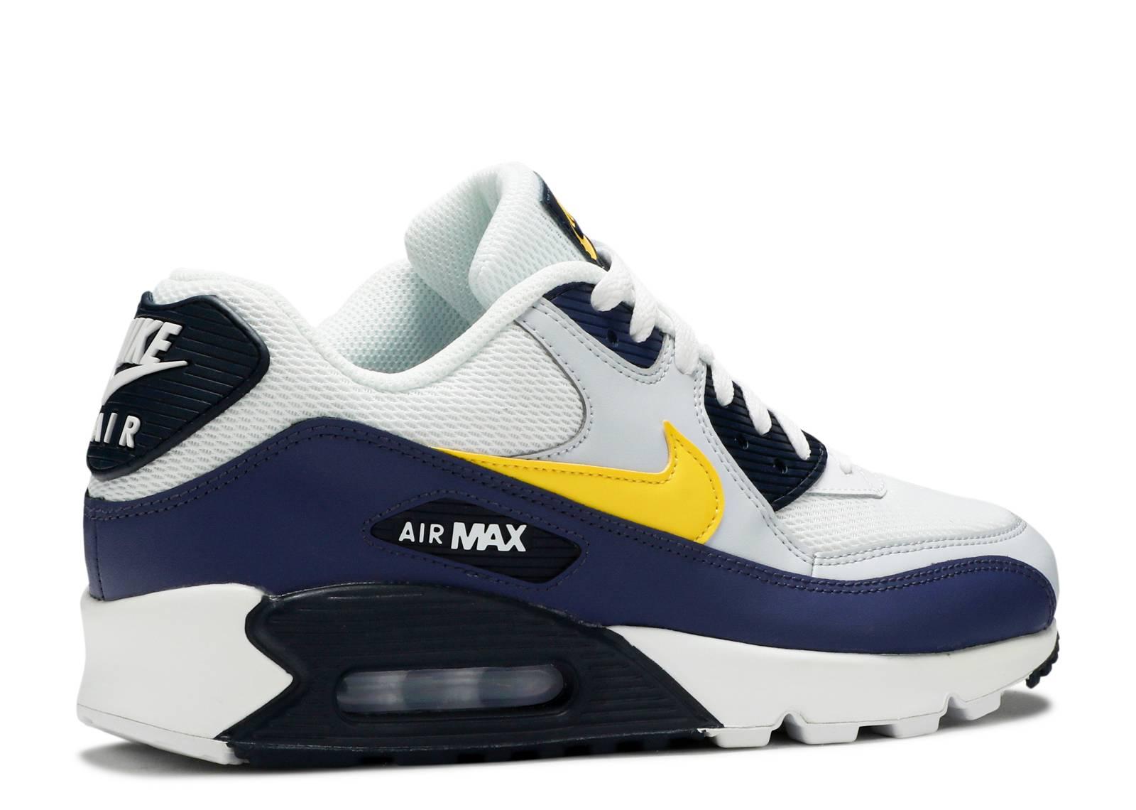AIR MAX 90 ESSENTIAL SNEAKERS Man White tour yellow blue recall