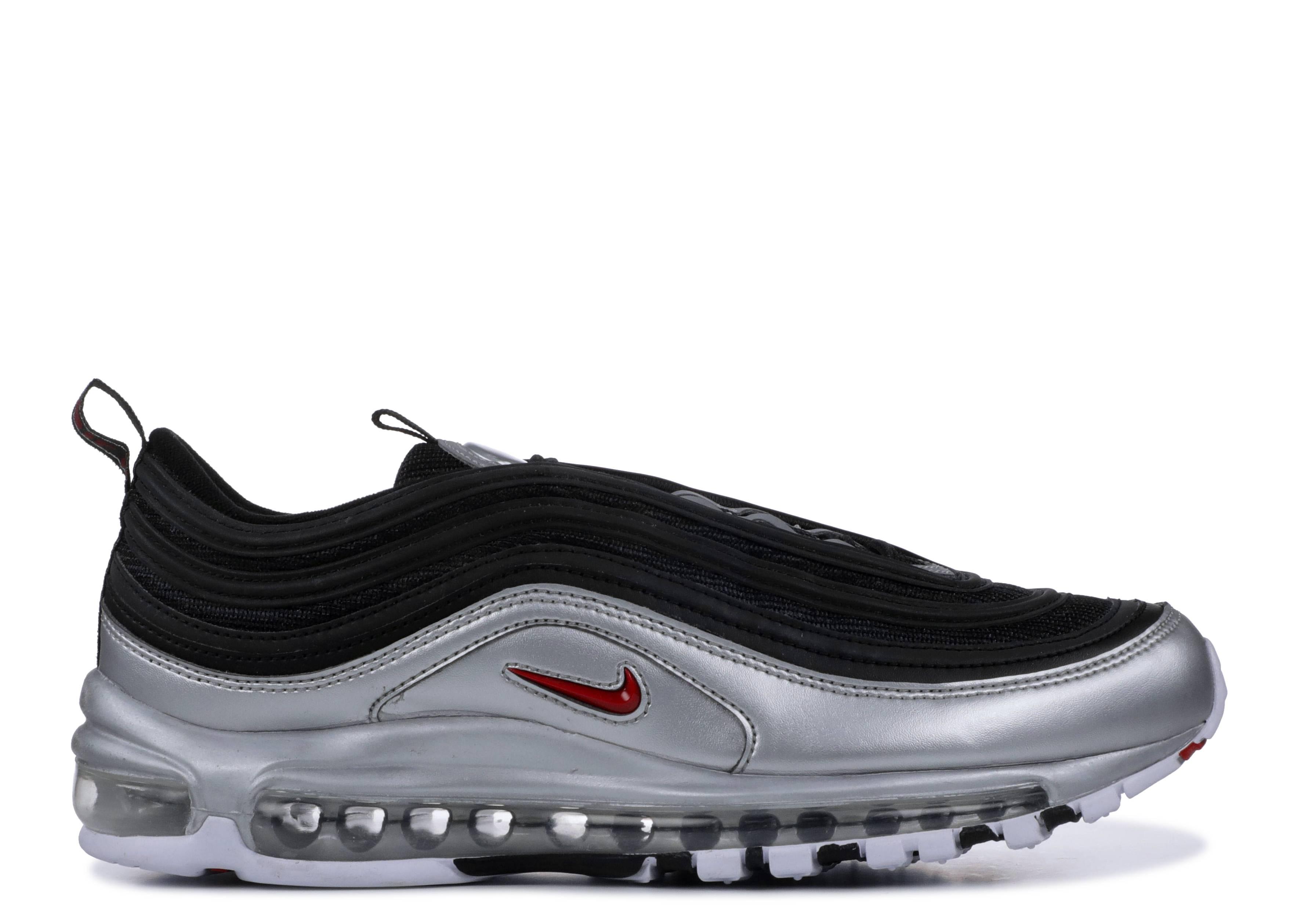 preocupación Recomendación Lectura cuidadosa  Air Max 97 QS 'B Sides Metallic Silver' - Nike - AT5458 001 - black/varsity  red-metallic silver-white | Flight Club