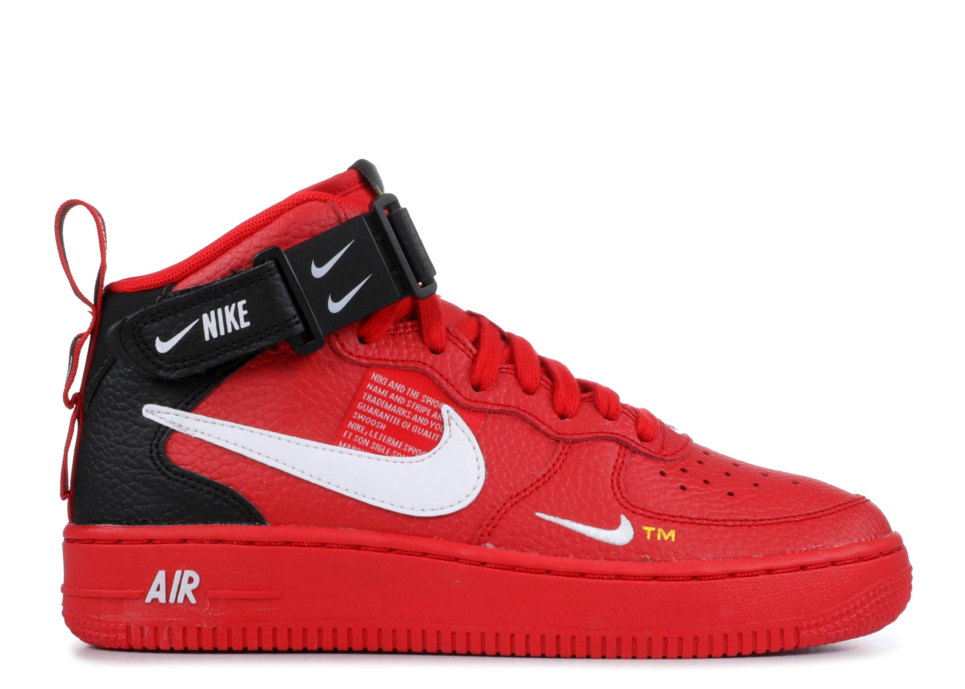 907a60df815 Air Force 1 Mid Lv8 (gs) - Nike - av3803 600 - university red white ...