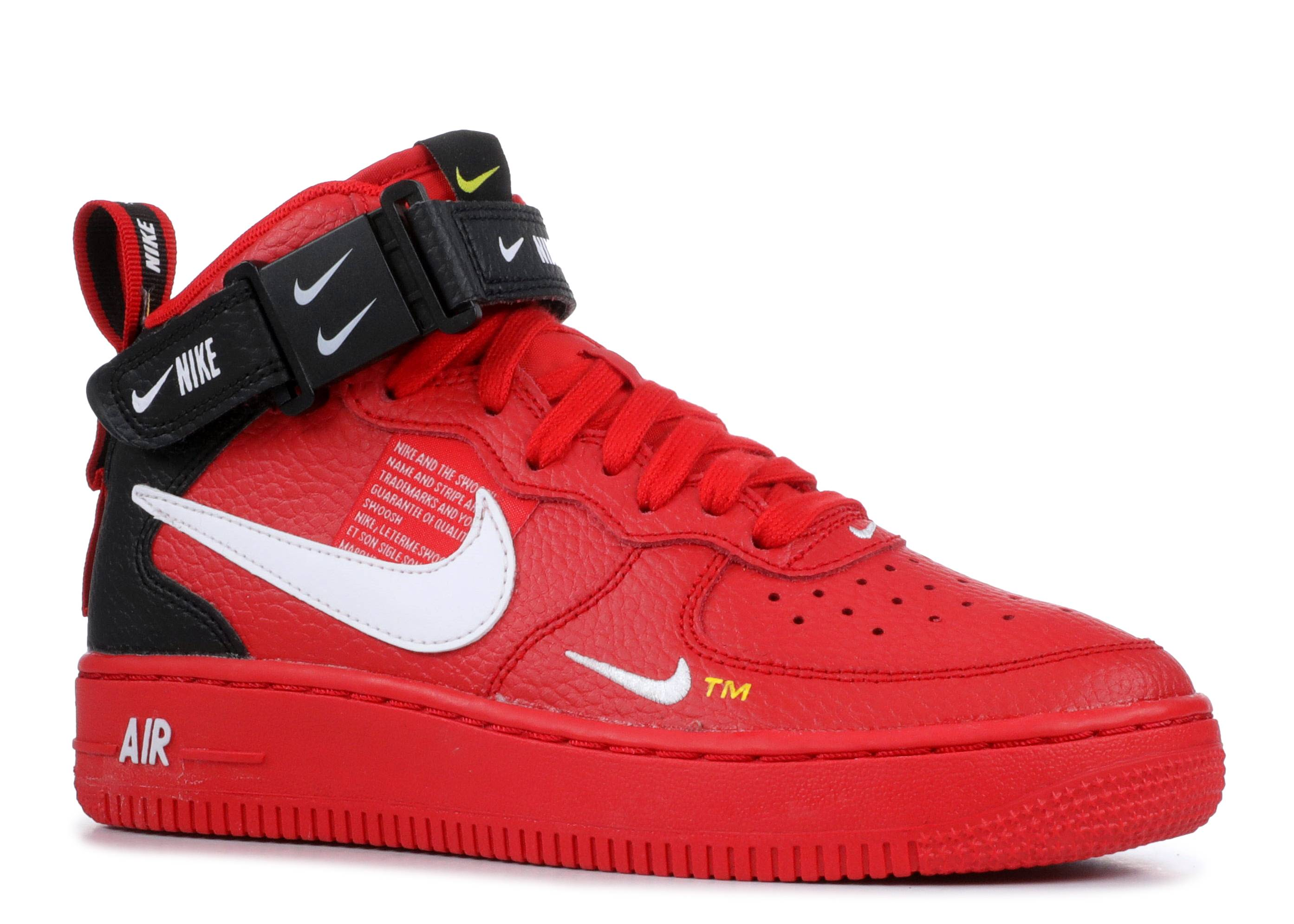 Nike Air Force 1 Mid Youth GS shoes red