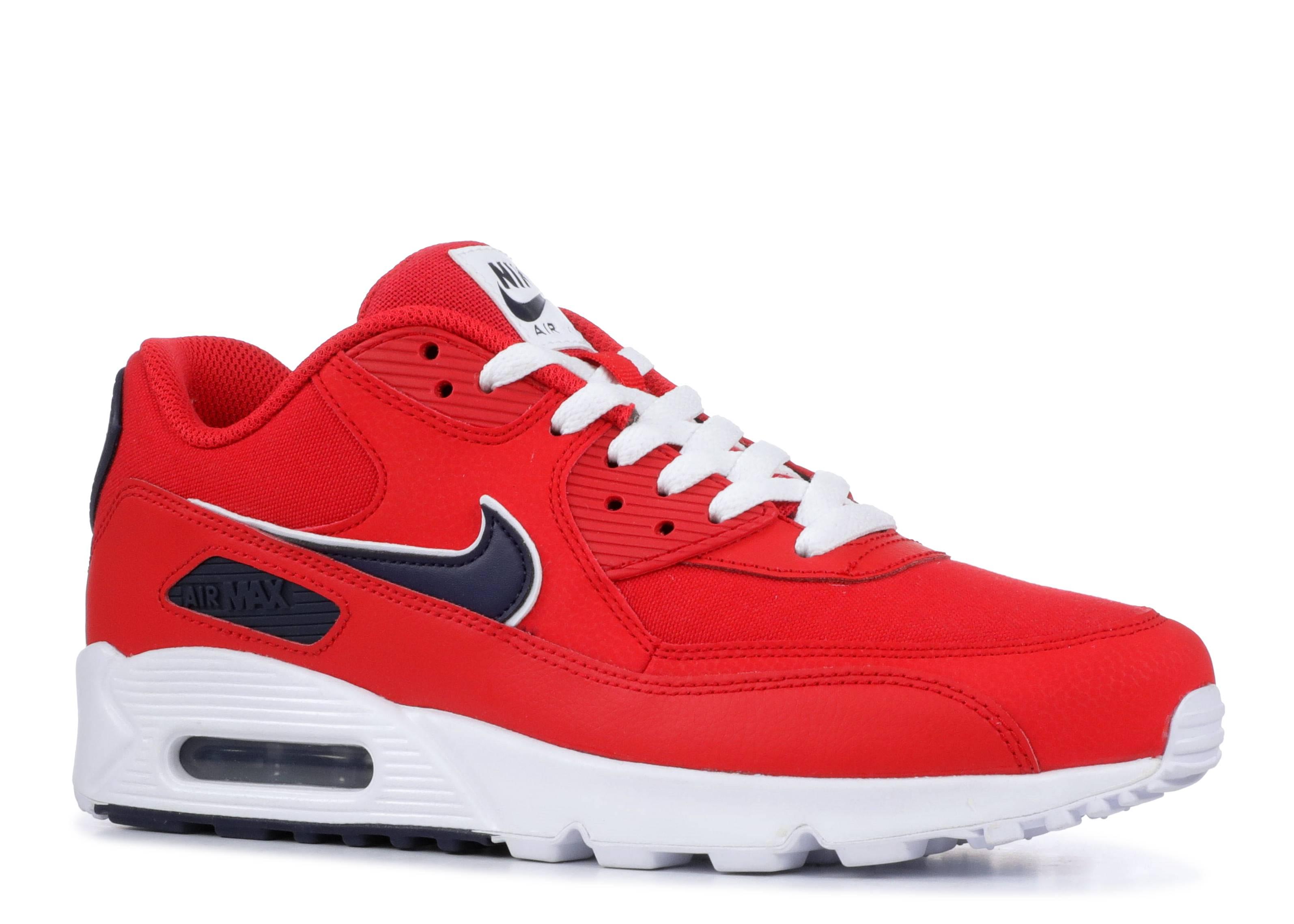 best website 28dae 6e6e5 Nike Air Max 90 Essential - Nike - aj1285 601 - university red blackened  blue-white   Flight Club