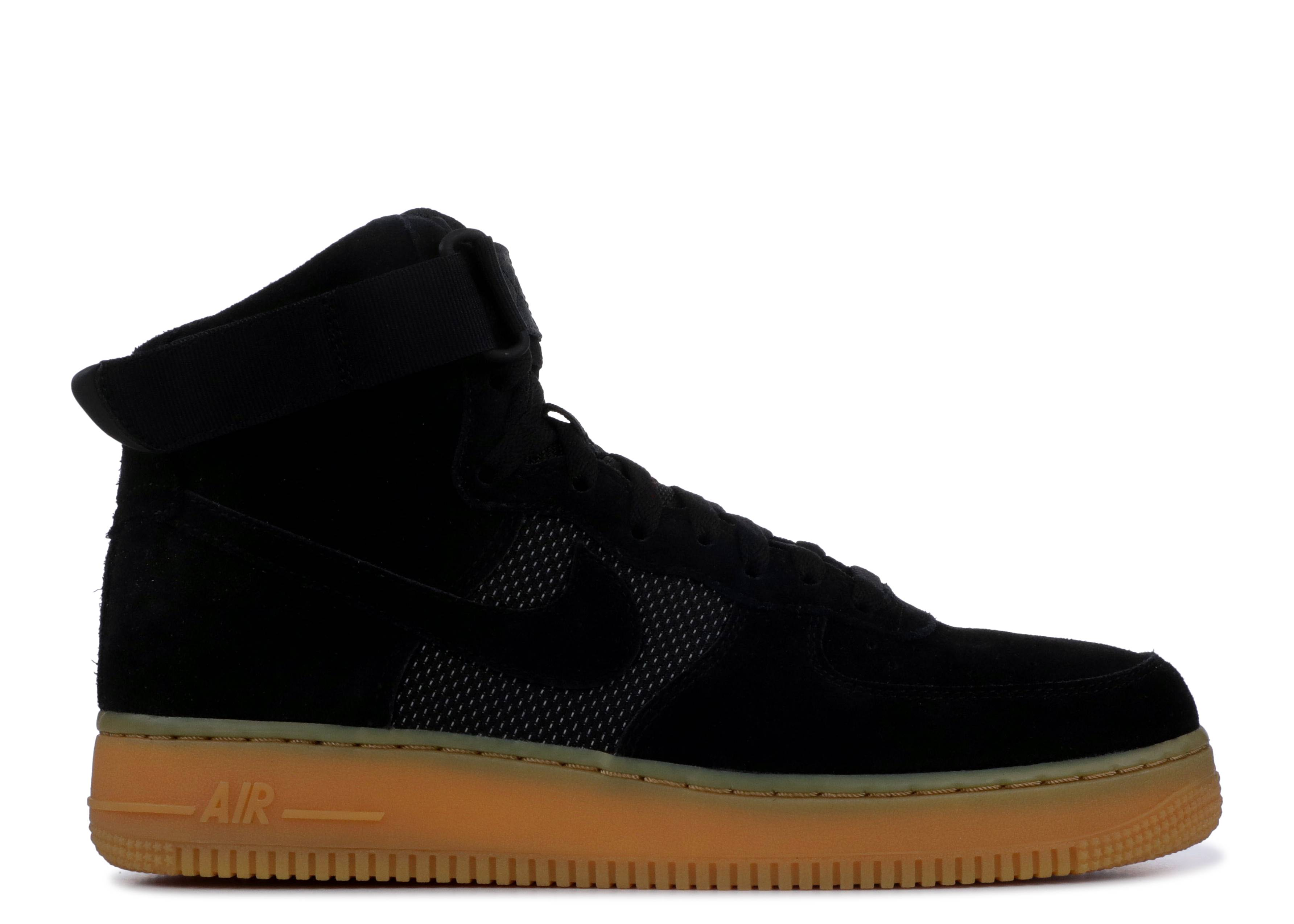 Air Force 1 High 07 Lv8 - Nike - 806403 003 - black black gum light ... 5cd66752ec